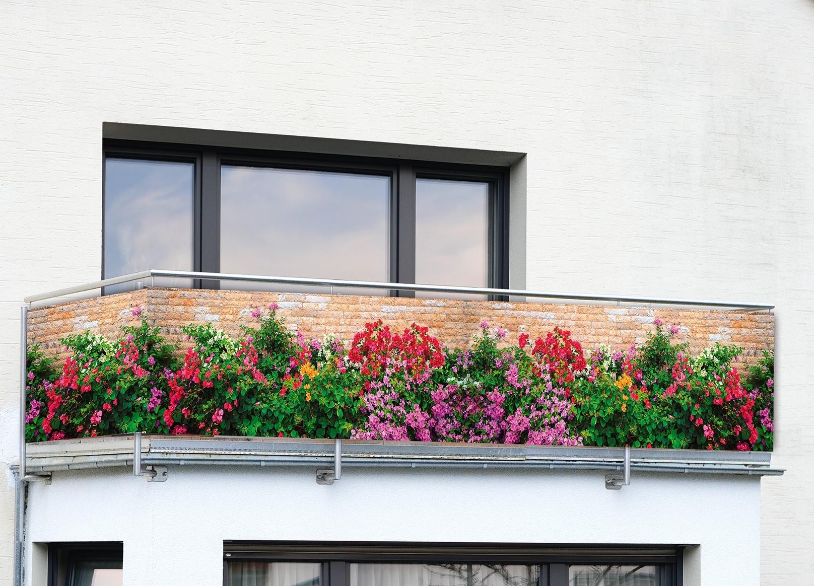 Wenko Balkon Sichtschutz Mauer Blumen Ebay