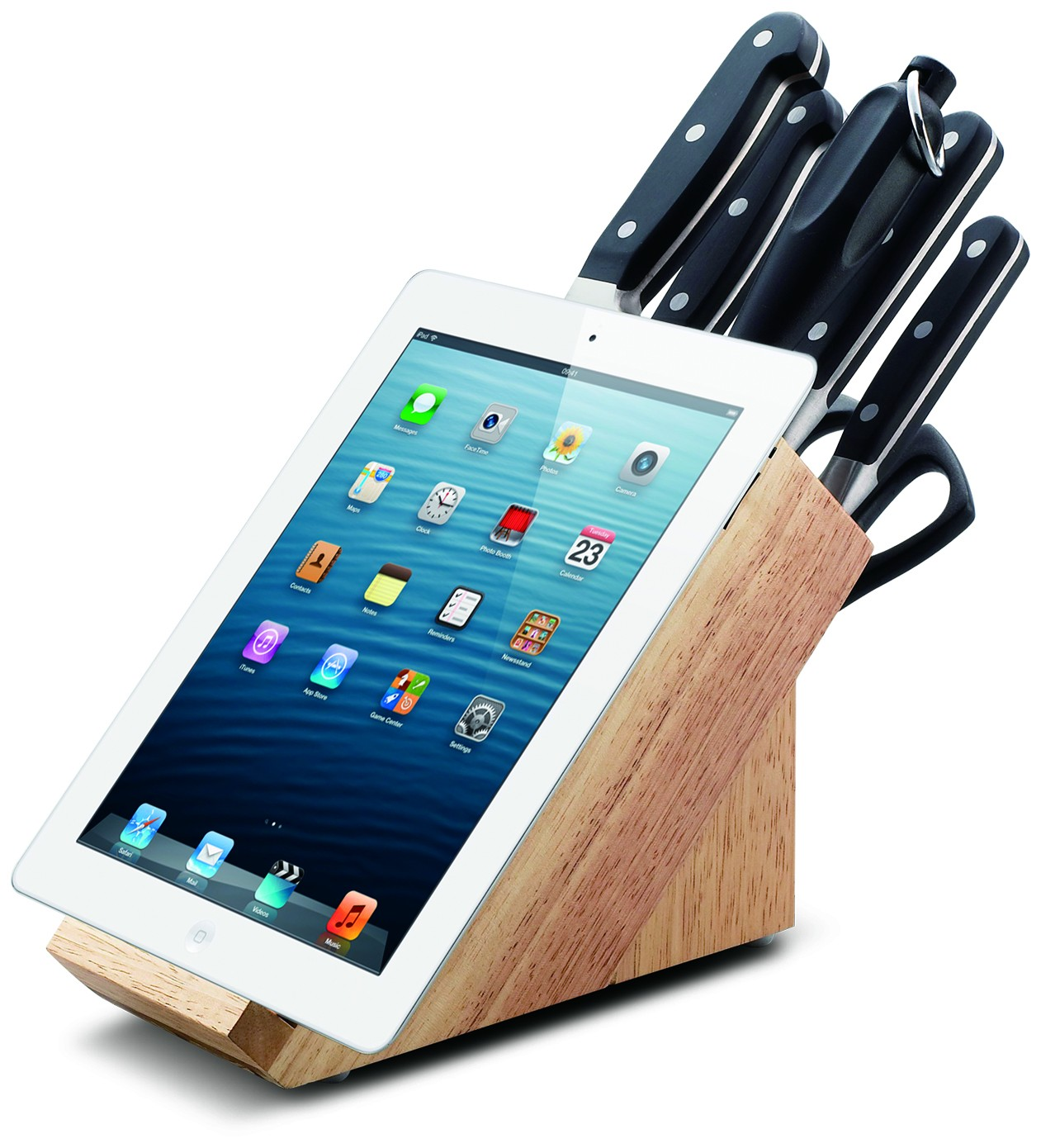 PREMIUM Messerblock - Messerblock mit Tablet-Halter
