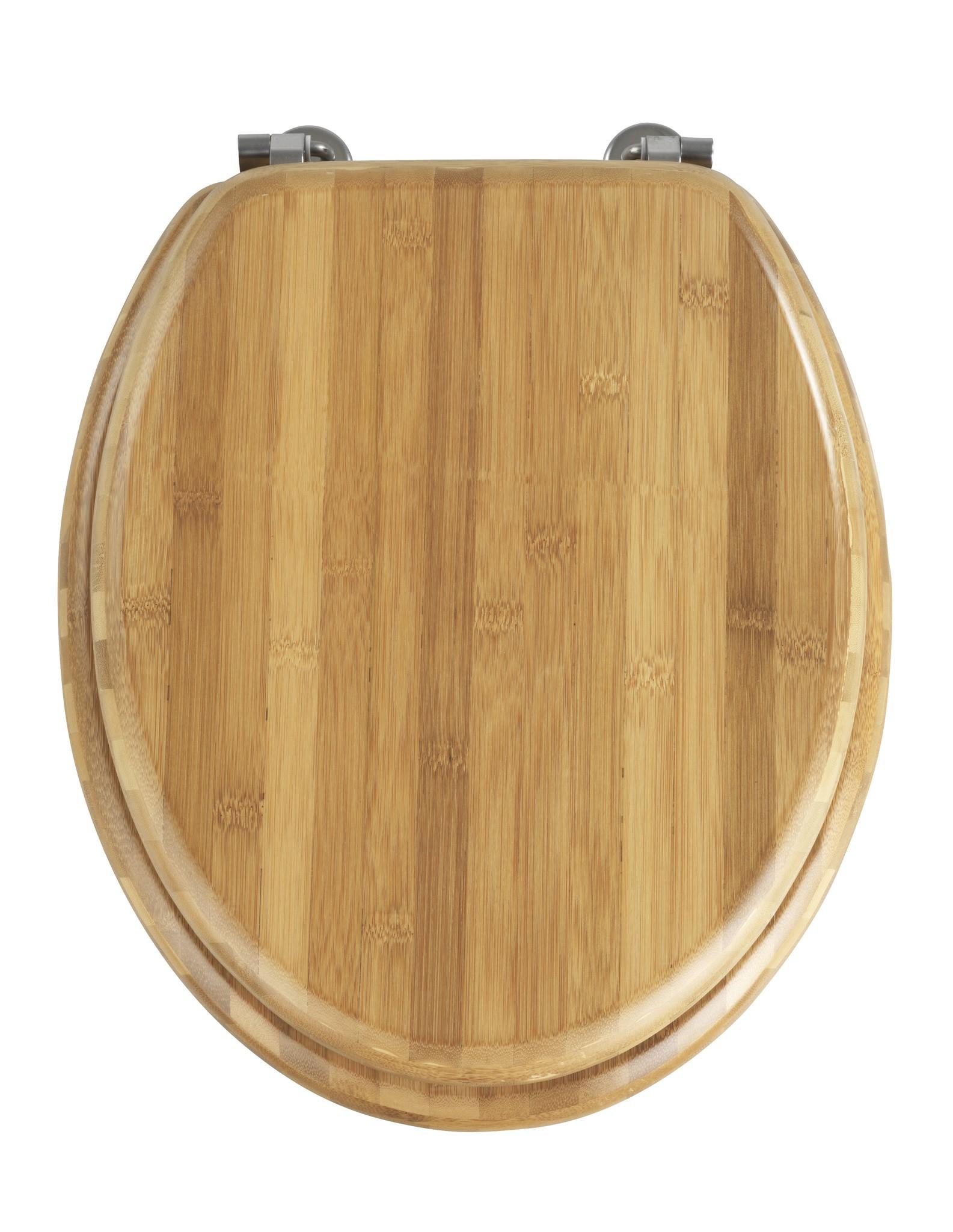 WC-Sitz Bambus Dunkel