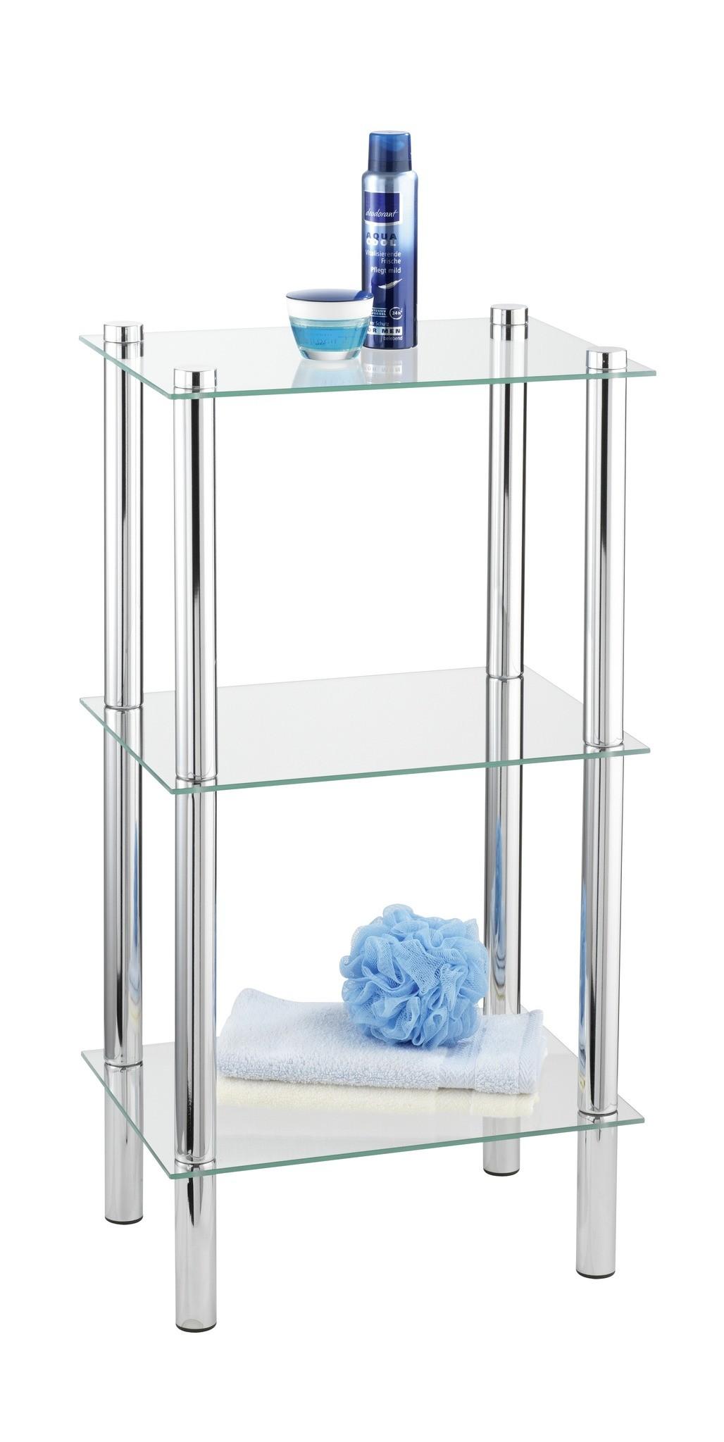 Regal Yago viereckig mit 3 Glasablagen