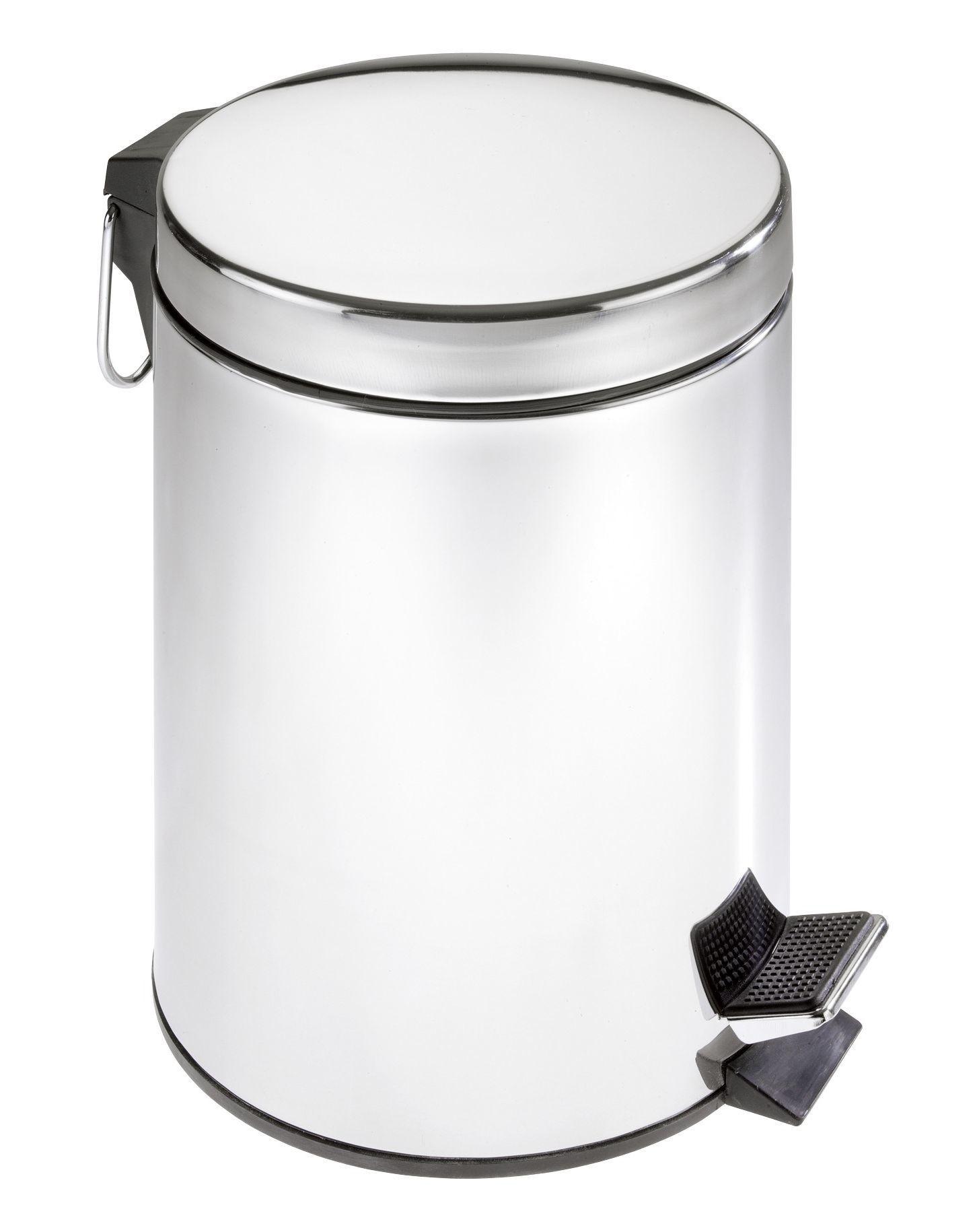 Wenko Kosmetik-Treteimer Edelstahl, 5 Liter, rostfrei