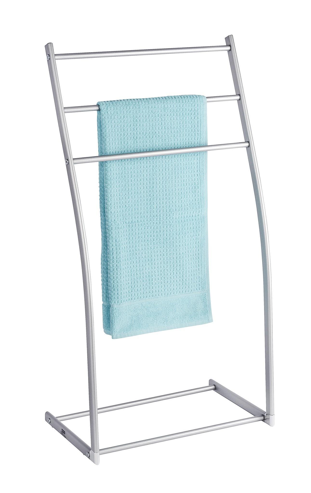 Aluminio Handtuchständer Almeria mit 3 Stangen, Kleiderständer