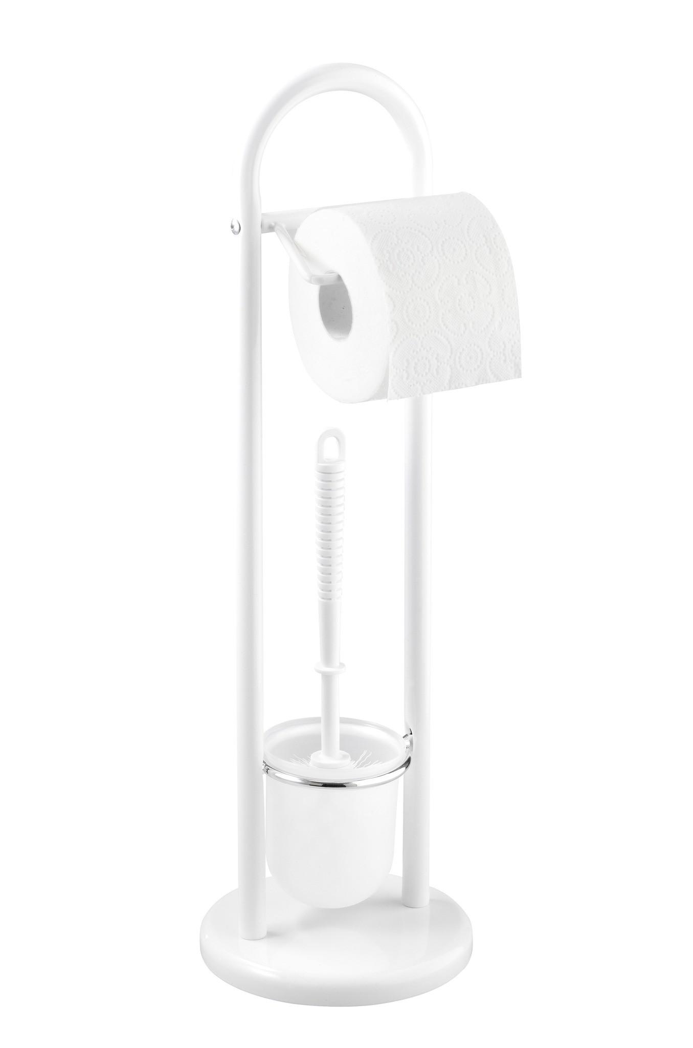 Wenko Stand WC-Garnitur Siena Weiß