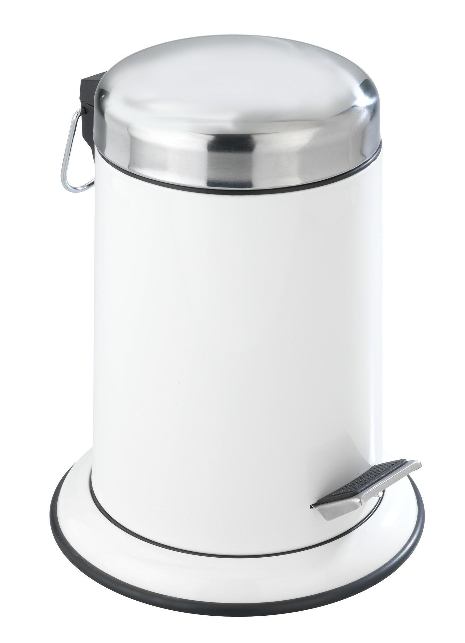 Kosmetik Treteimer Retoro Weiß, 3 Liter, Edelstahl rostfrei