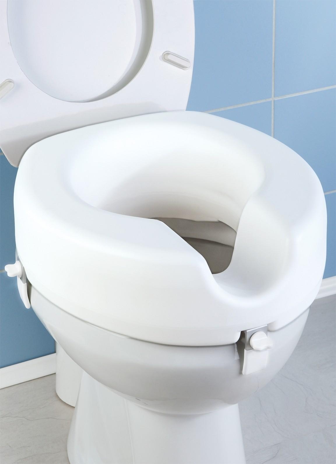 Wenko WC Sitz-Erhöhung Secura, 150 kg Tragkraft