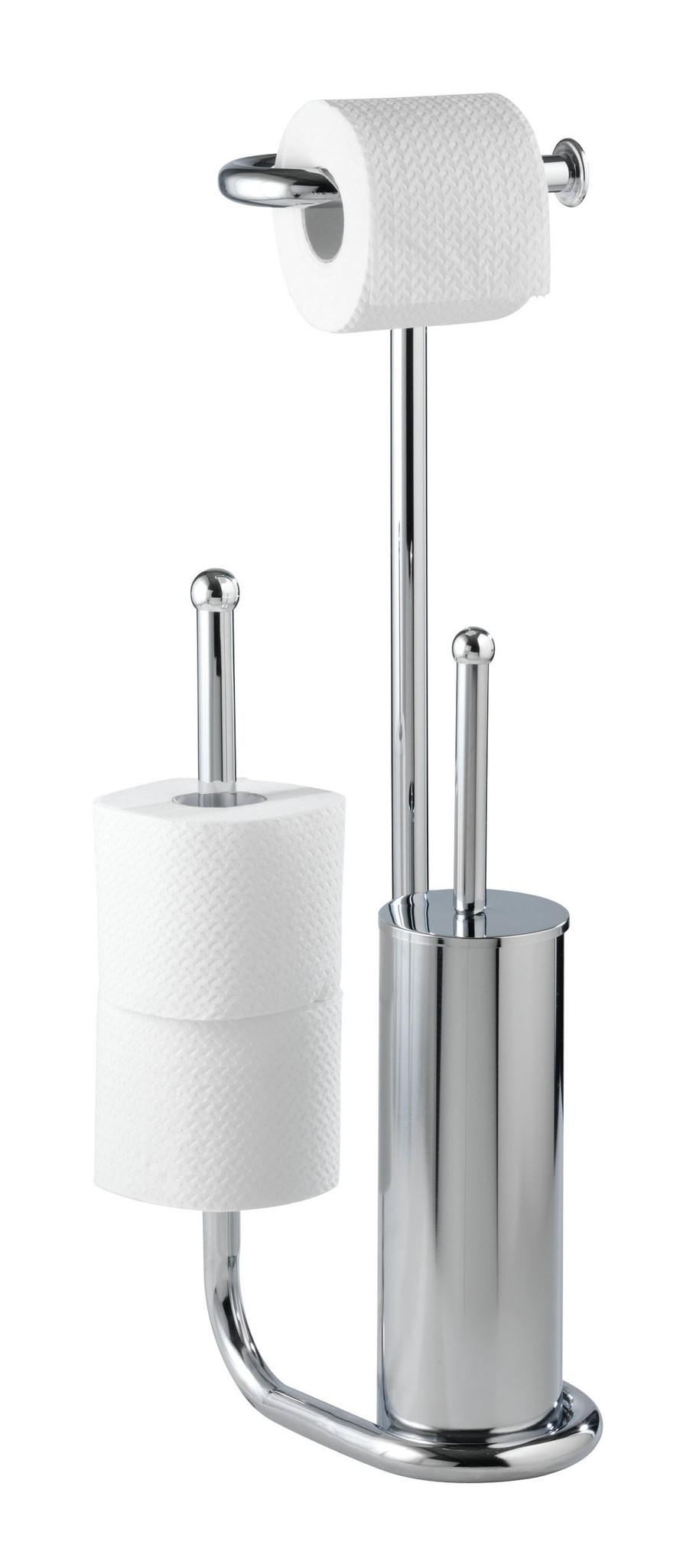 Stand WC-Garnitur Universalo Chrom, mit Ersatzrollenhalter