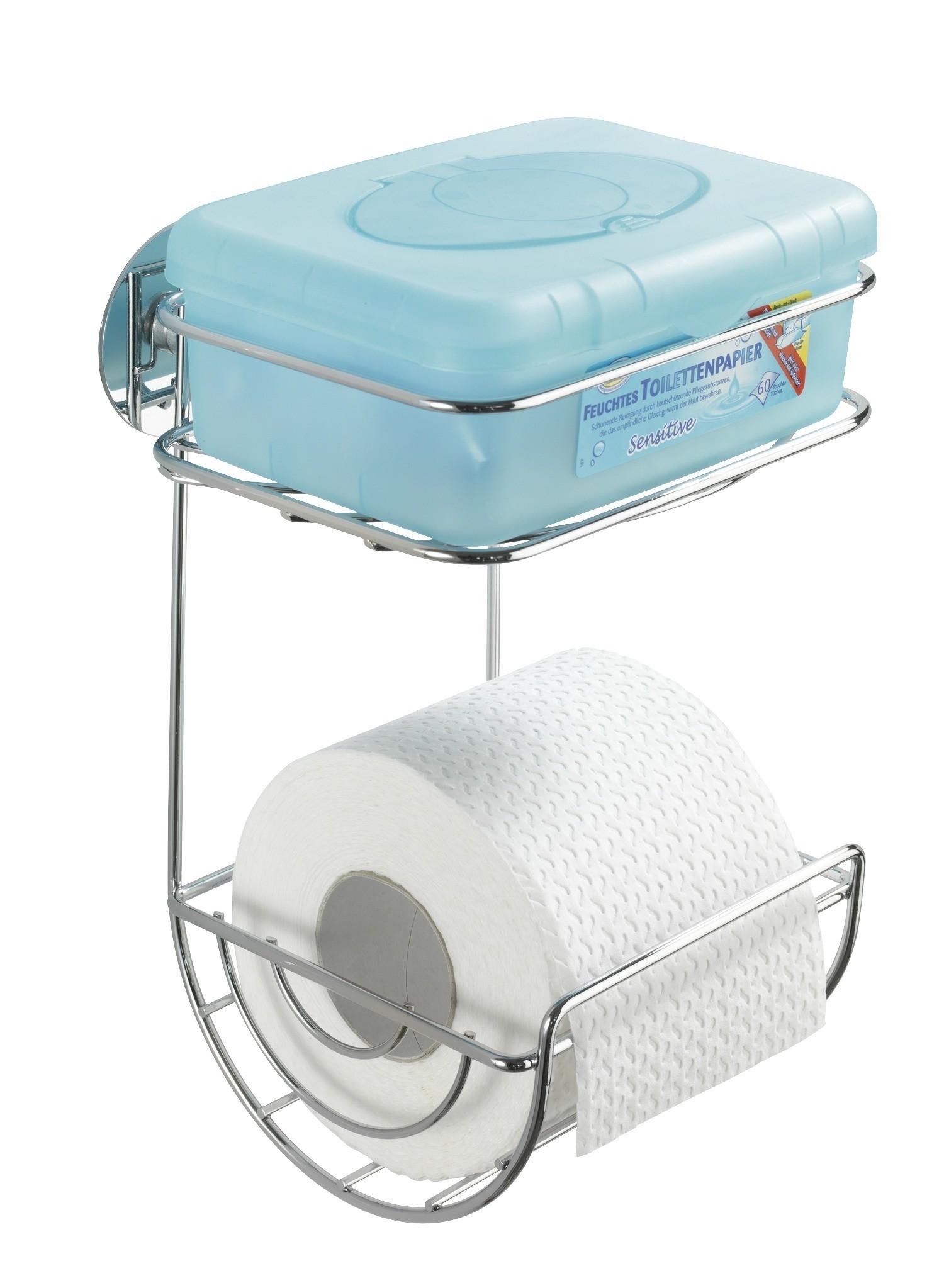 Turbo-Loc Toilettenpapierhalter mit Ablage, Befestigen ohne bohren