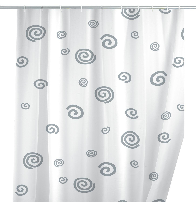 Duschvorhang Schnecke, 180 x 200 cm, waschbar