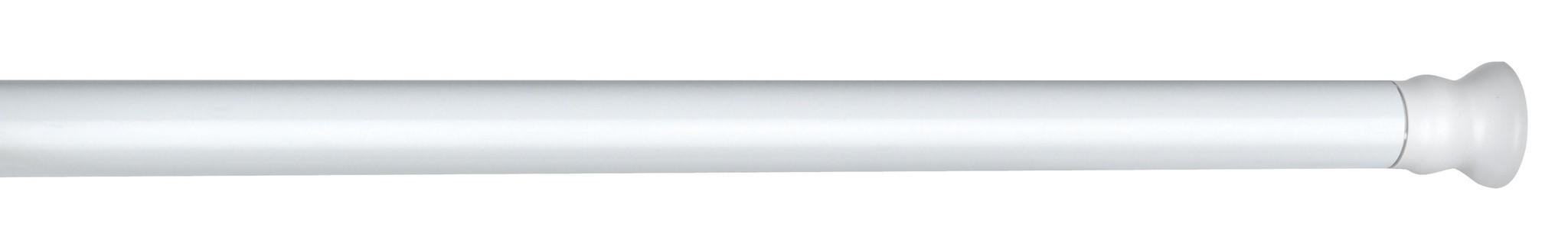 Teleskop Duschstange extra stark Weiß, 110 - 245 cm