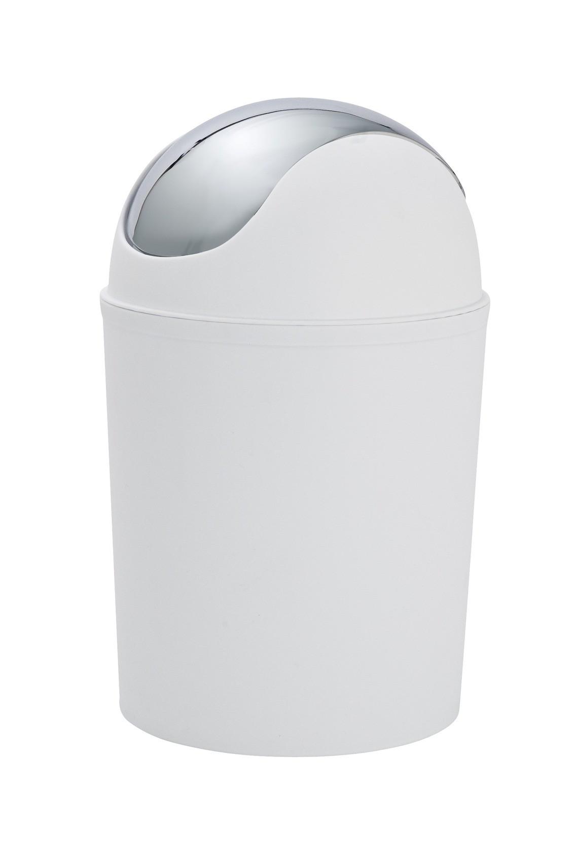 Wenko Schwingdeckeleimer Vercelli Chrom, 4,5 Liter