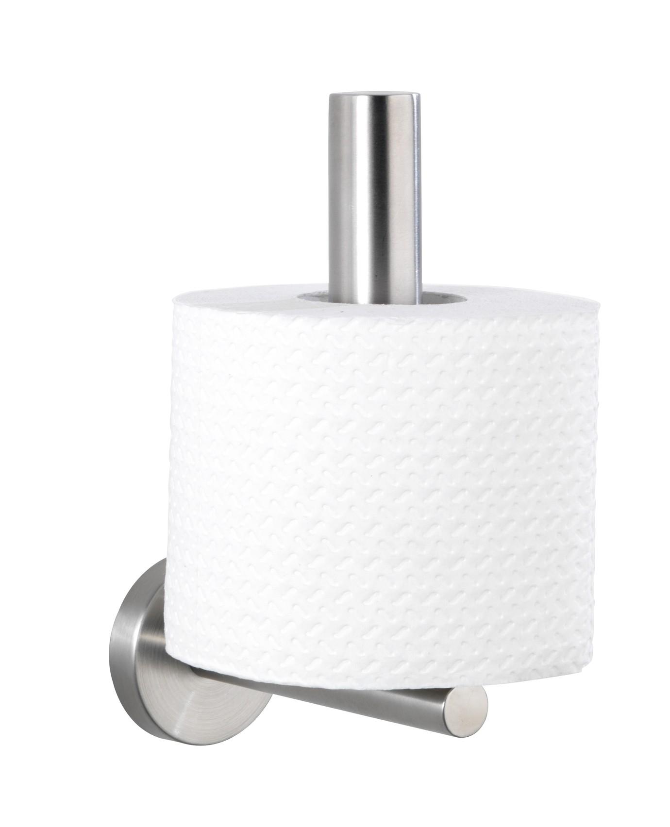 Wenko Toilettenpapier-Ersatzrollenhalter Bosio, Edelstahl rostfrei