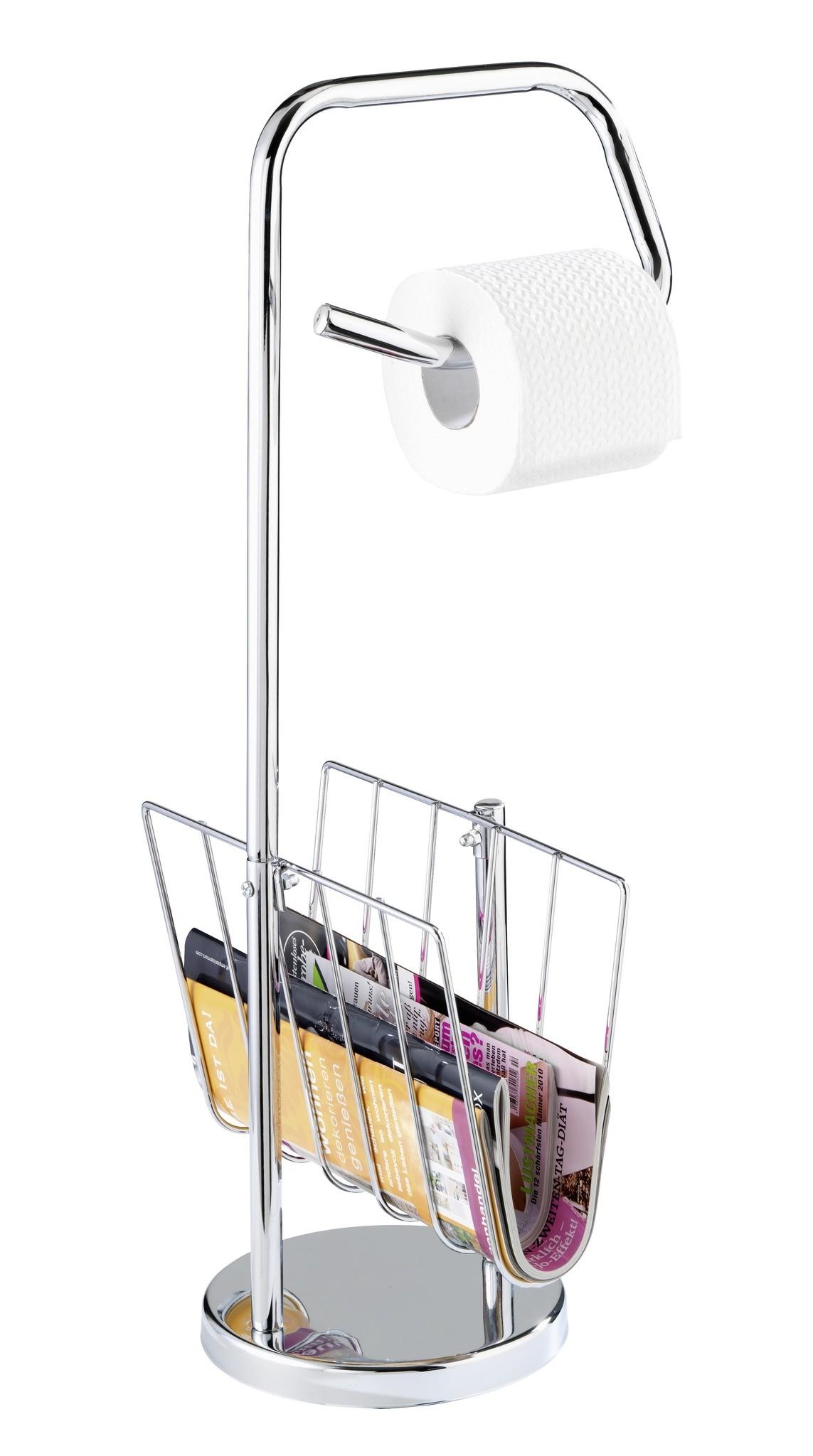 Wenko Stand WC-Garnitur mit Zeitungshalter Chrom