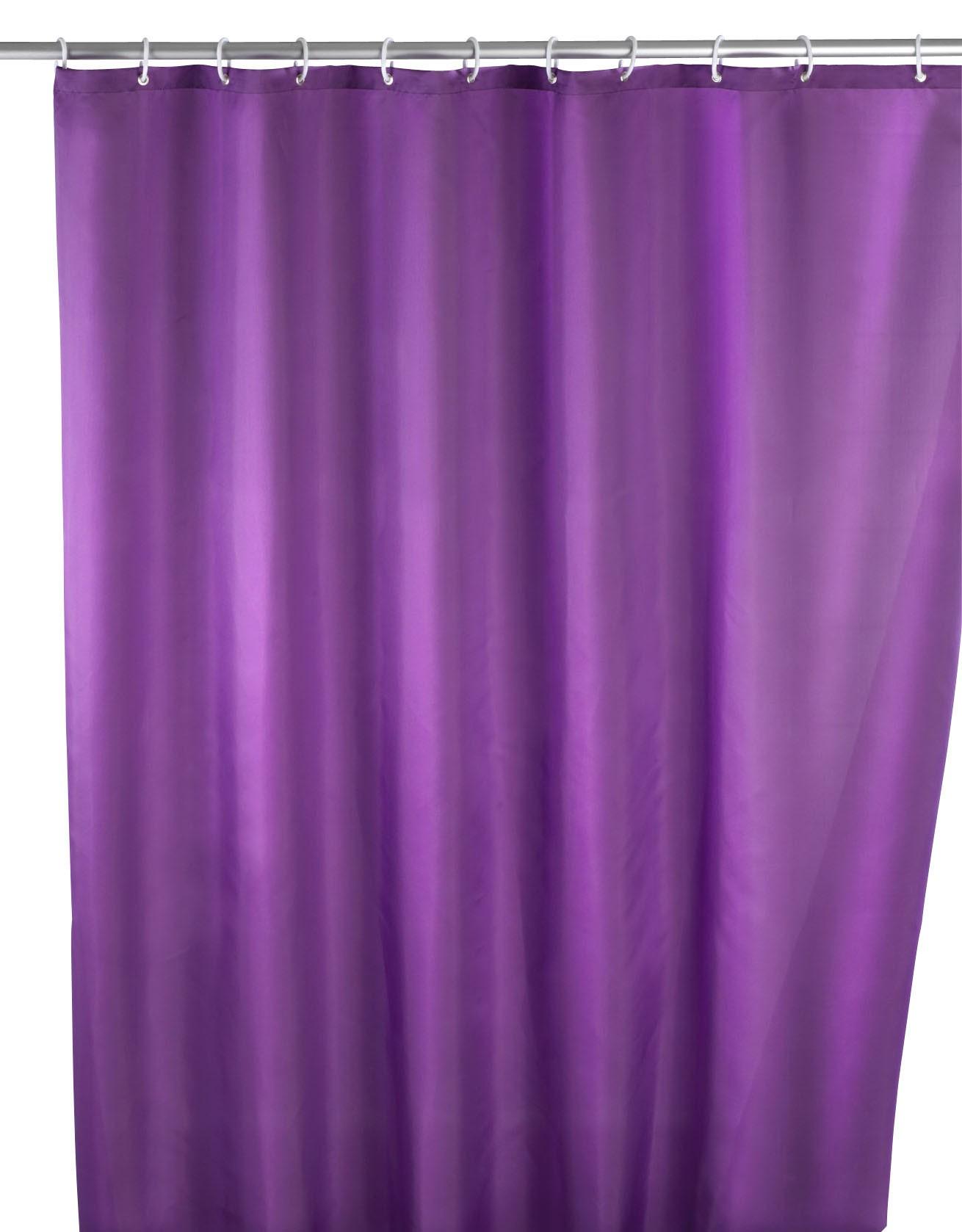 Anti-Schimmel Duschvorhang Uni Purple, 180 x 200 cm, waschbar