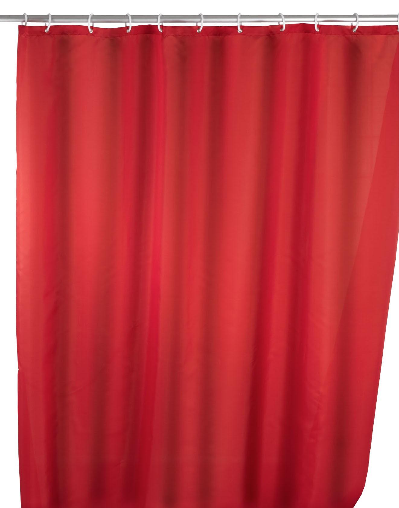 Anti-Schimmel Duschvorhang Uni Red, 180 x 200 cm, waschbar