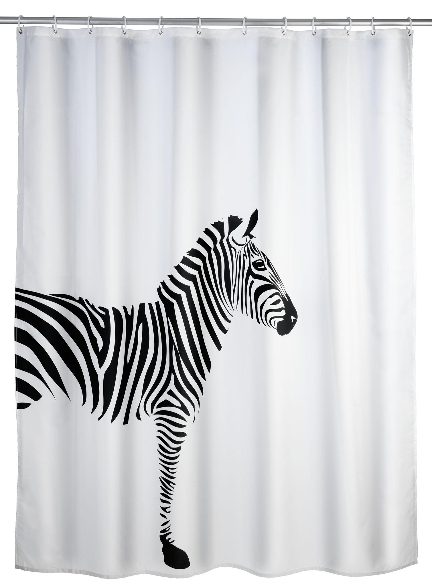Wenko Anti-Schimmel Duschvorhang Wild, 180 x 200 cm, waschbar