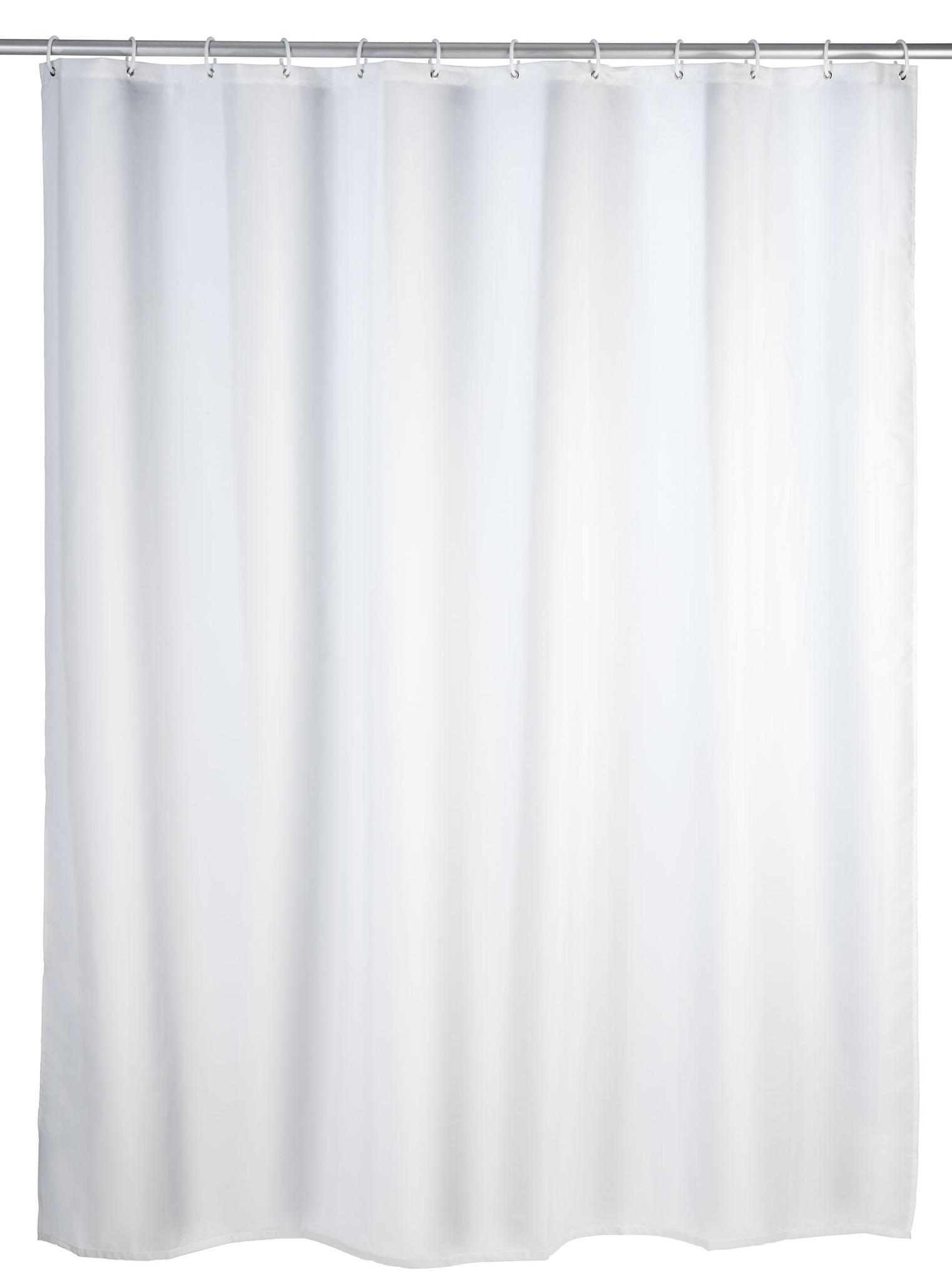 Anti-Schimmel Duschvorhang Uni White, 180 x 200 cm, waschbar