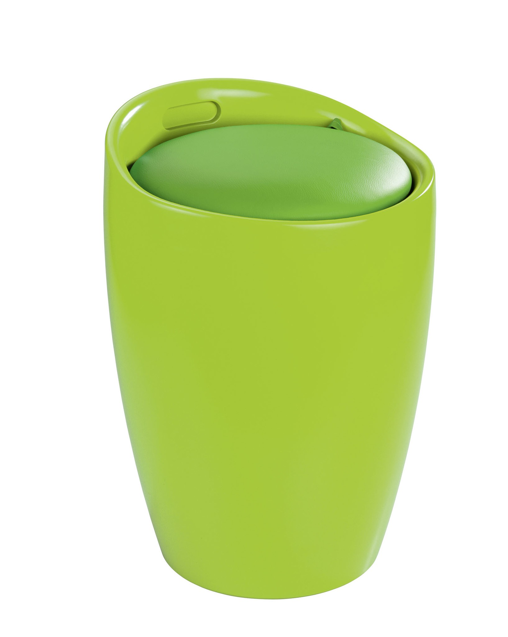 Hocker Candy Green, Badhocker, mit abnehmbarem Wäschesack