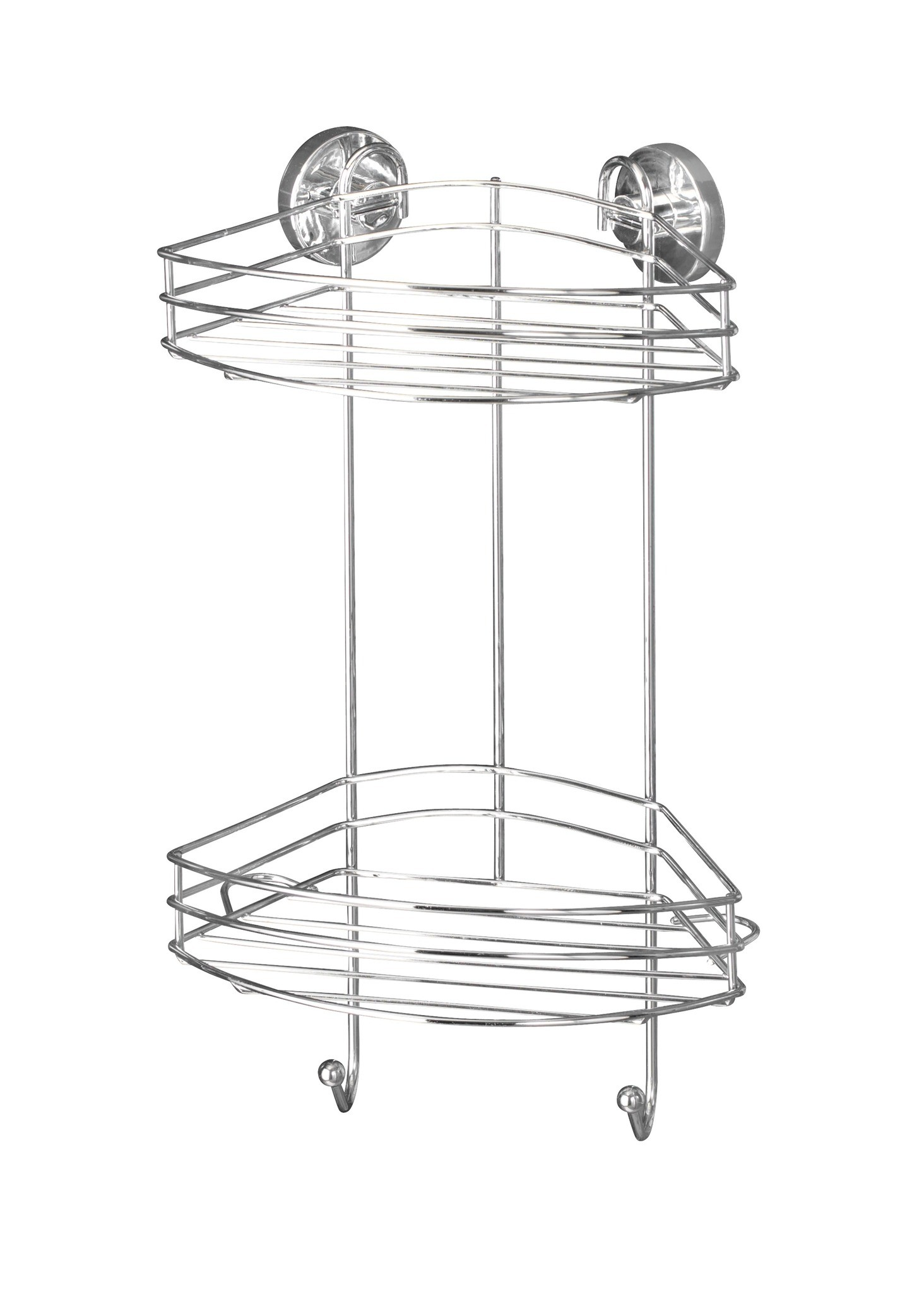 Wenko Vacuum-Loc Eckregal 2 Etagen, Befestigen ohne bohren