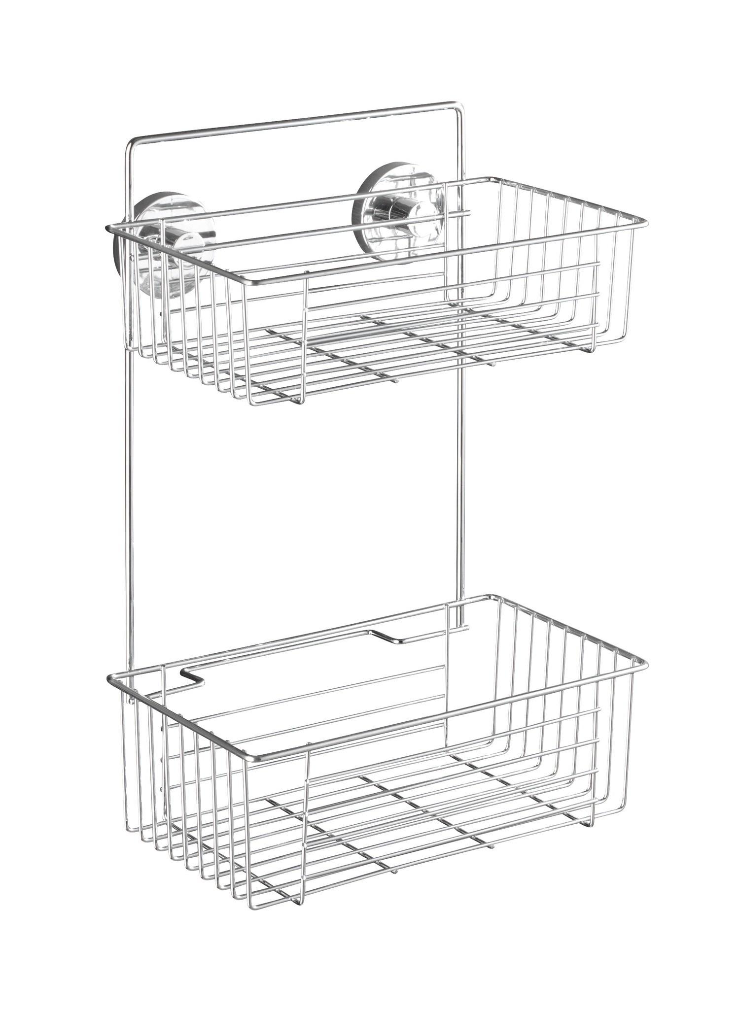 Wenko Vacuum-Loc Wandregal 2 Etagen Bari, Befestigen ohne bohren