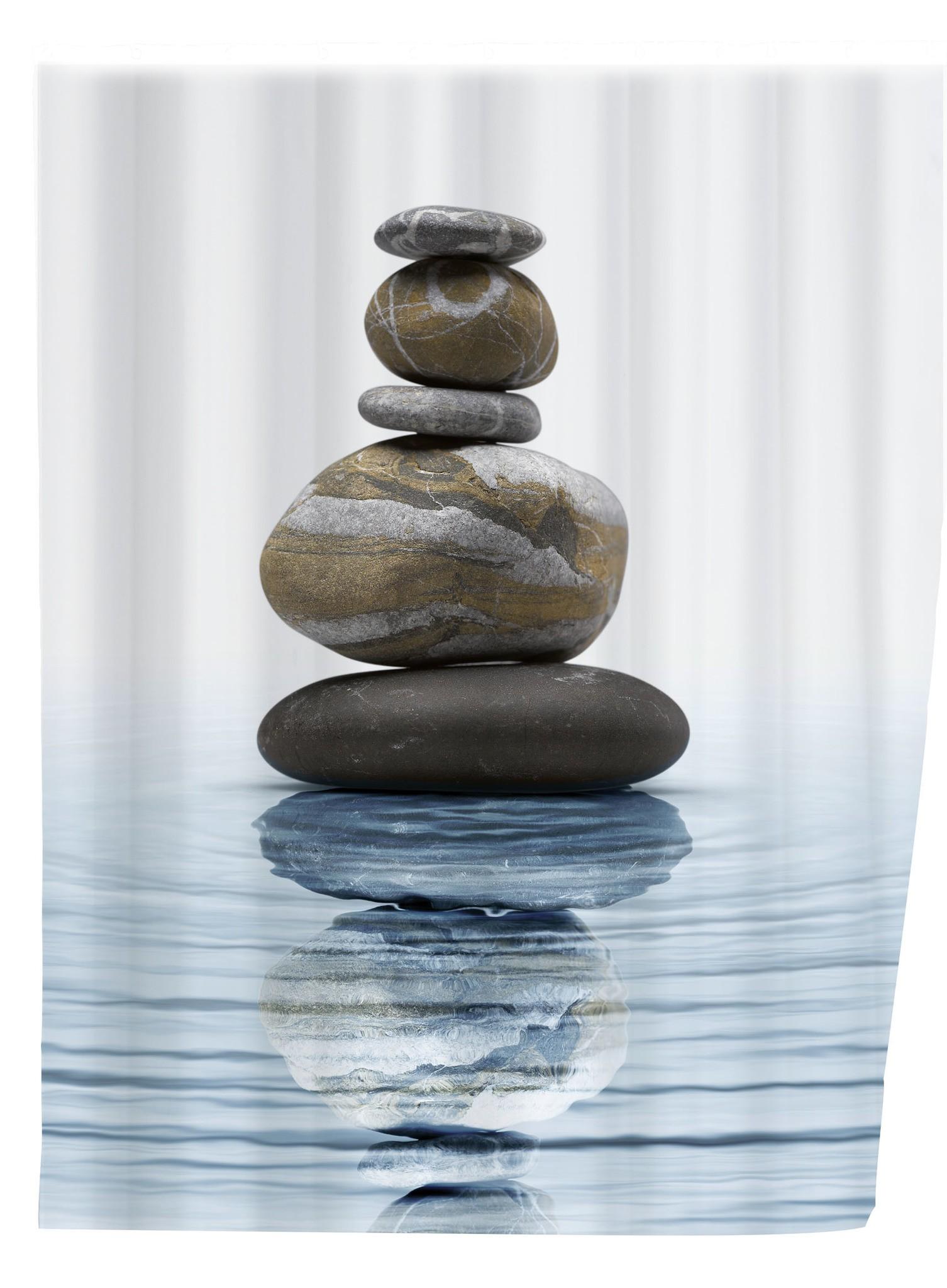 Wenko Duschvorhang Meditation, 180 x 200 cm, waschbar