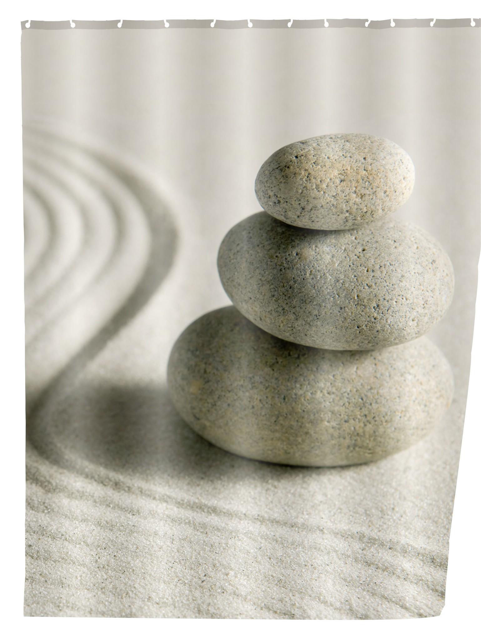 Duschvorhang Sand & Stone, 180 x 200 cm, waschbar