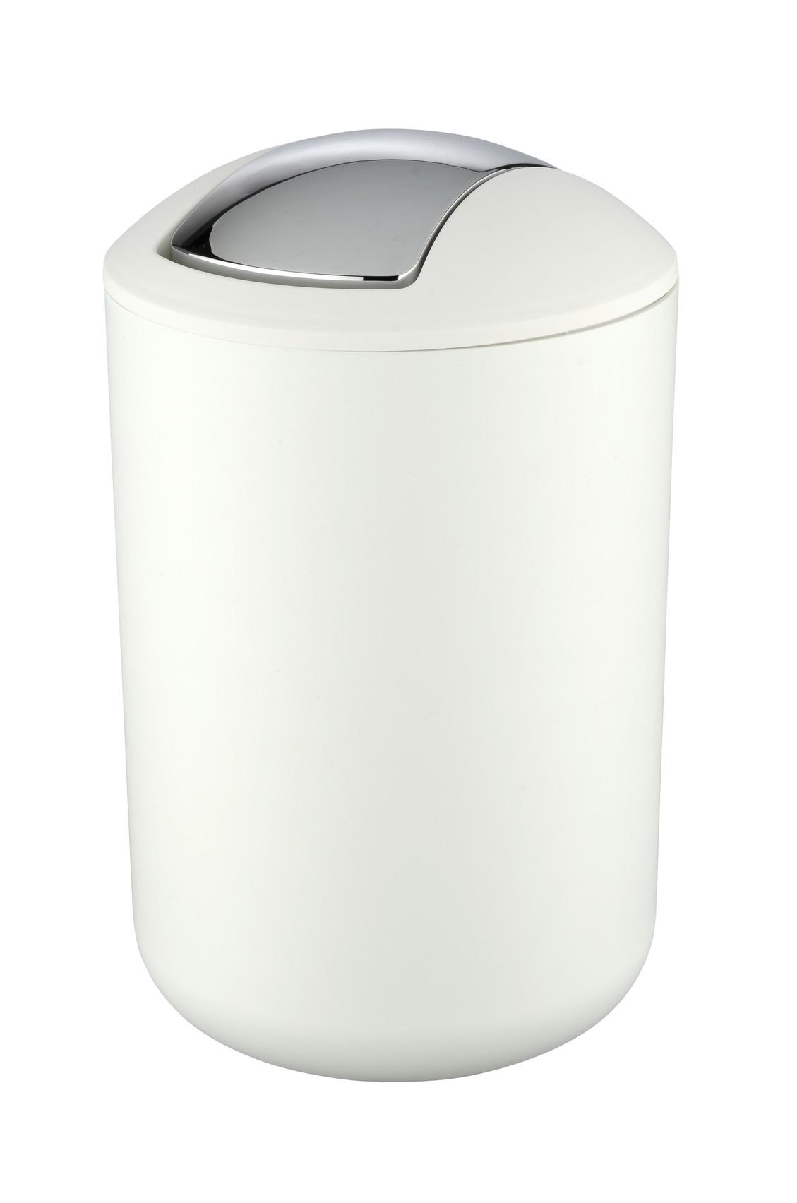 Wenko Schwingdeckeleimer / Kosmetikeimer Brasil L Weiß 6,5 Liter