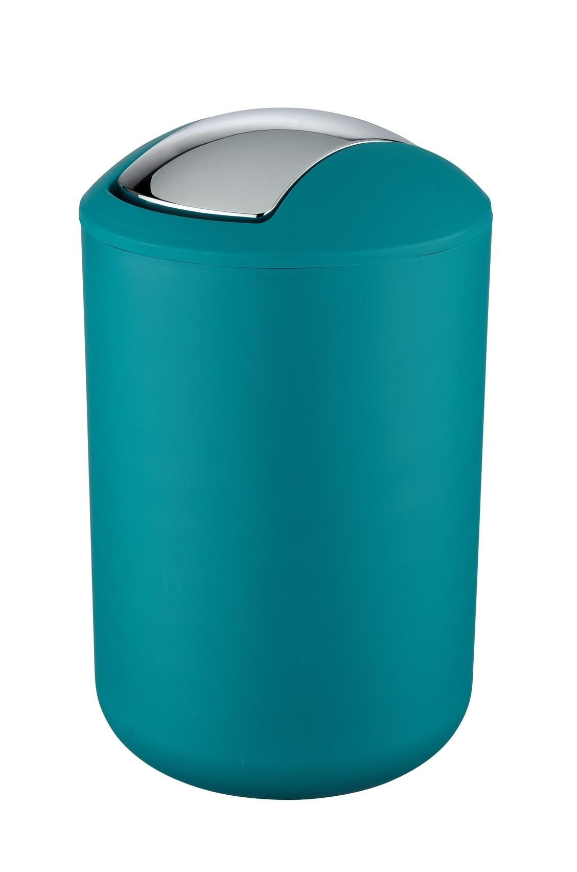 Wenko Schwingdeckeleimer / Kosmetikeimer Brasil L Petrol 6,5 Liter