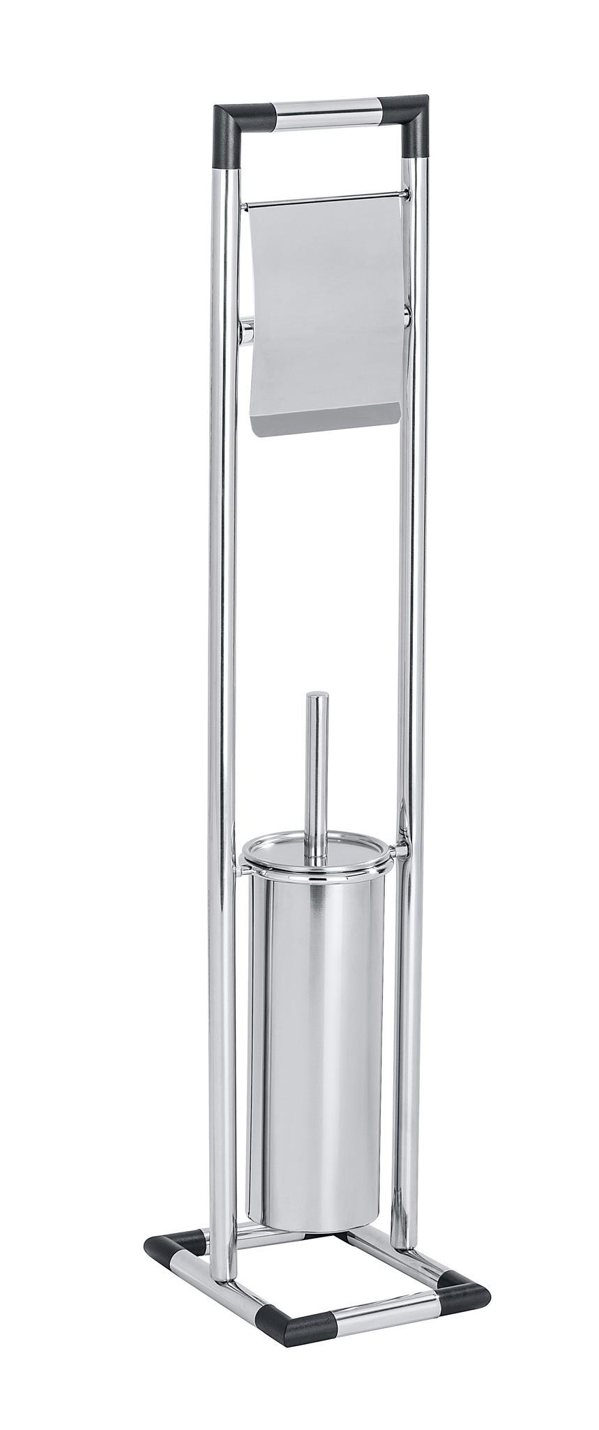 Wenko Stand WC-Garnitur Lonigo, Edelstahl rostfrei