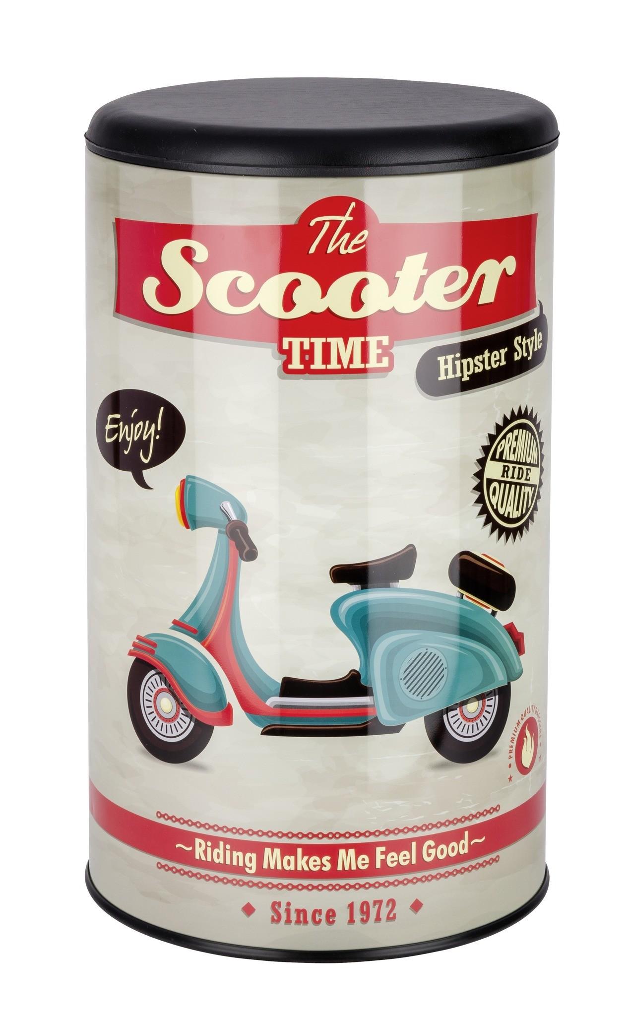 Wäschetruhe Vintage Scooter, Badhocker
