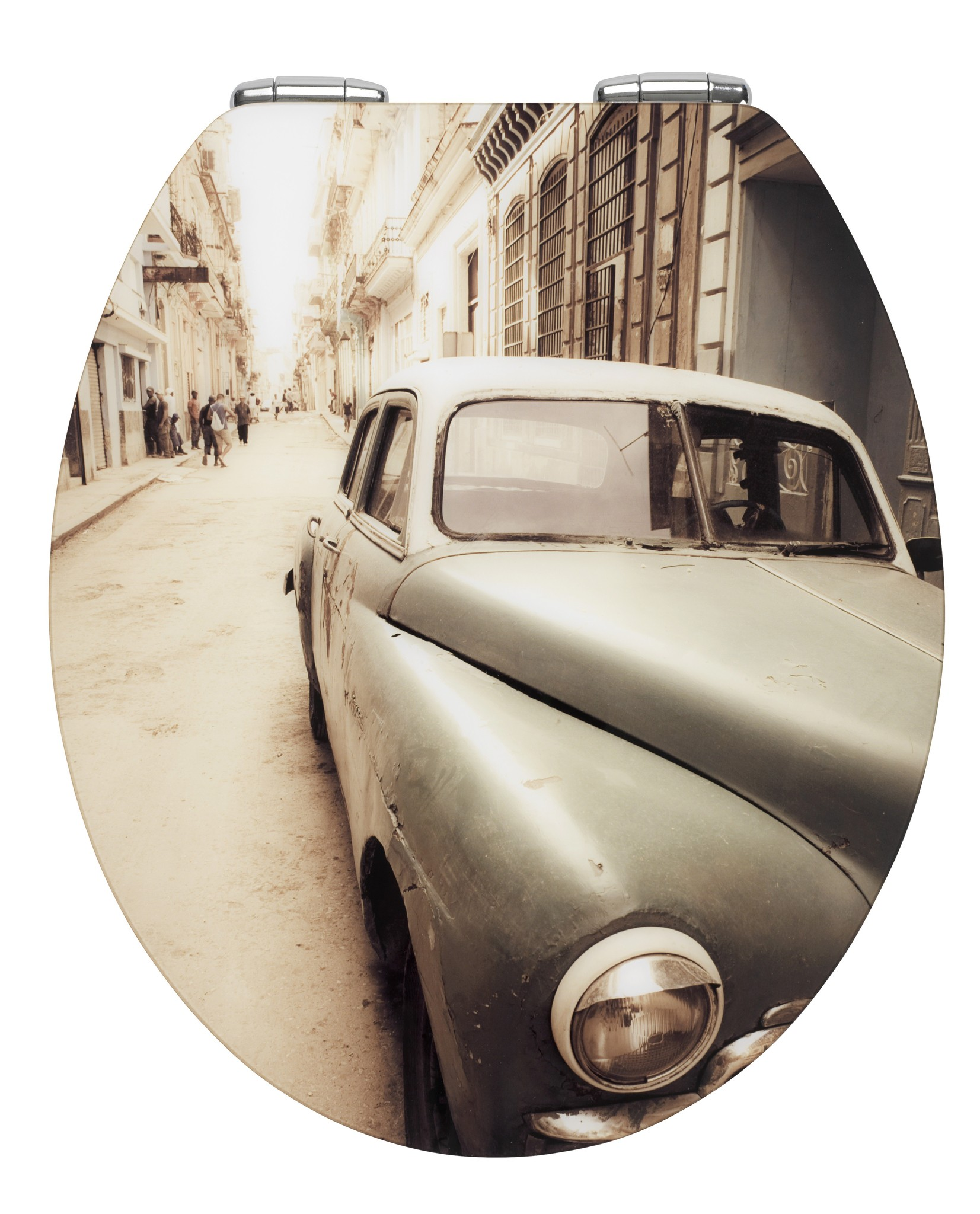 Wenko WC-Sitz Hochglanz Acryl Old-Time Car, mit Absenkautomatik, MDF