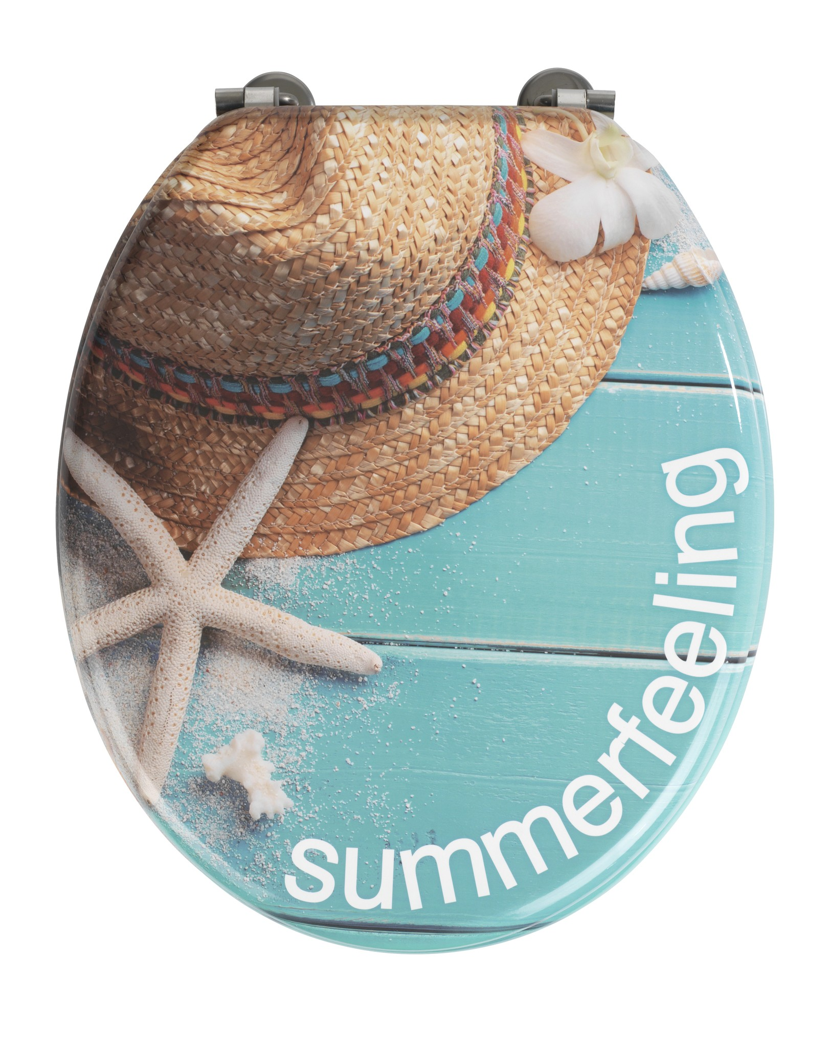 WC-Sitz Summer Feeling, Unikat aus MDF