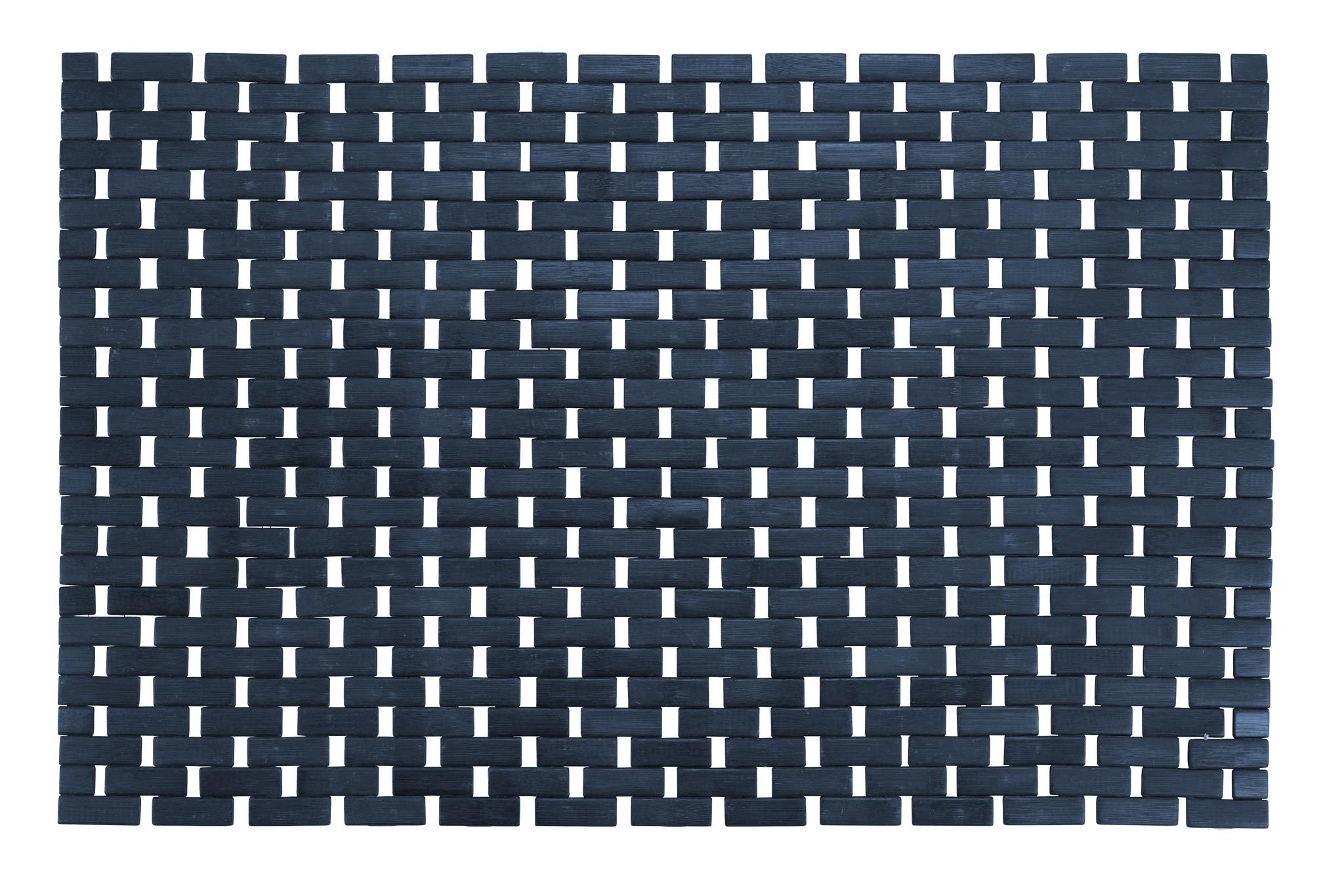 Wenko Badematte Bamboo Dunkelblau, 50 x 80 cm