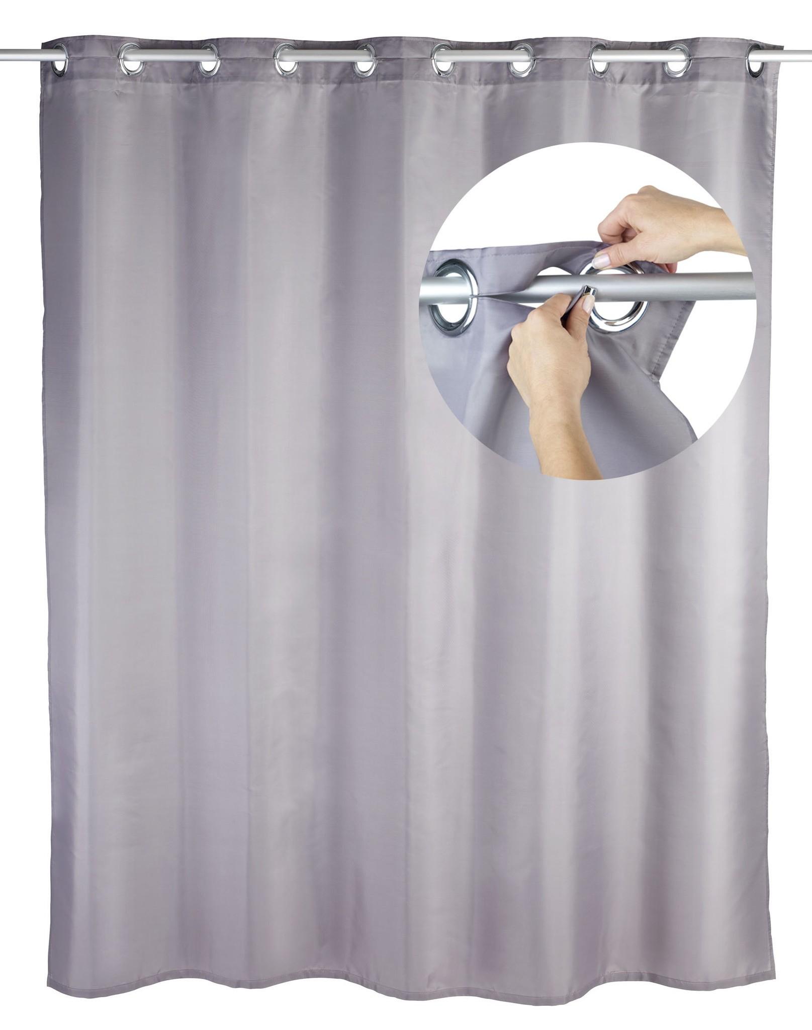 Duschvorhang Comfort Flex Grau, 180 x 200 cm, waschbar