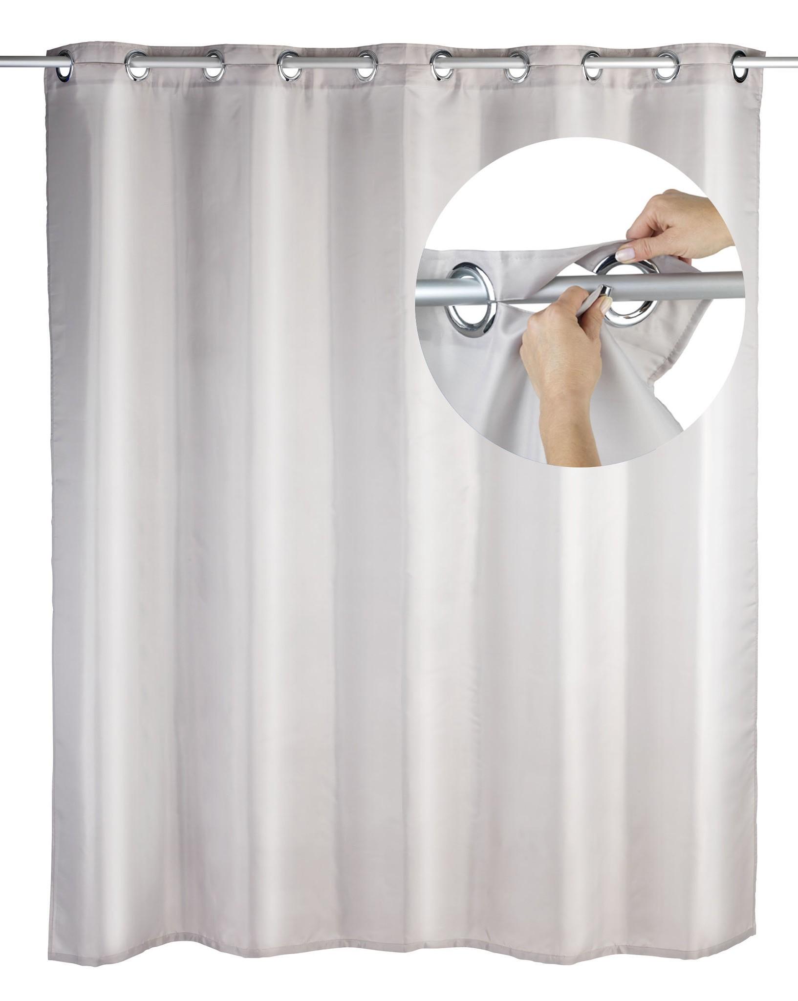 Wenko Duschvorhang Comfort Flex Taupe, 180 x 200 cm, waschbar