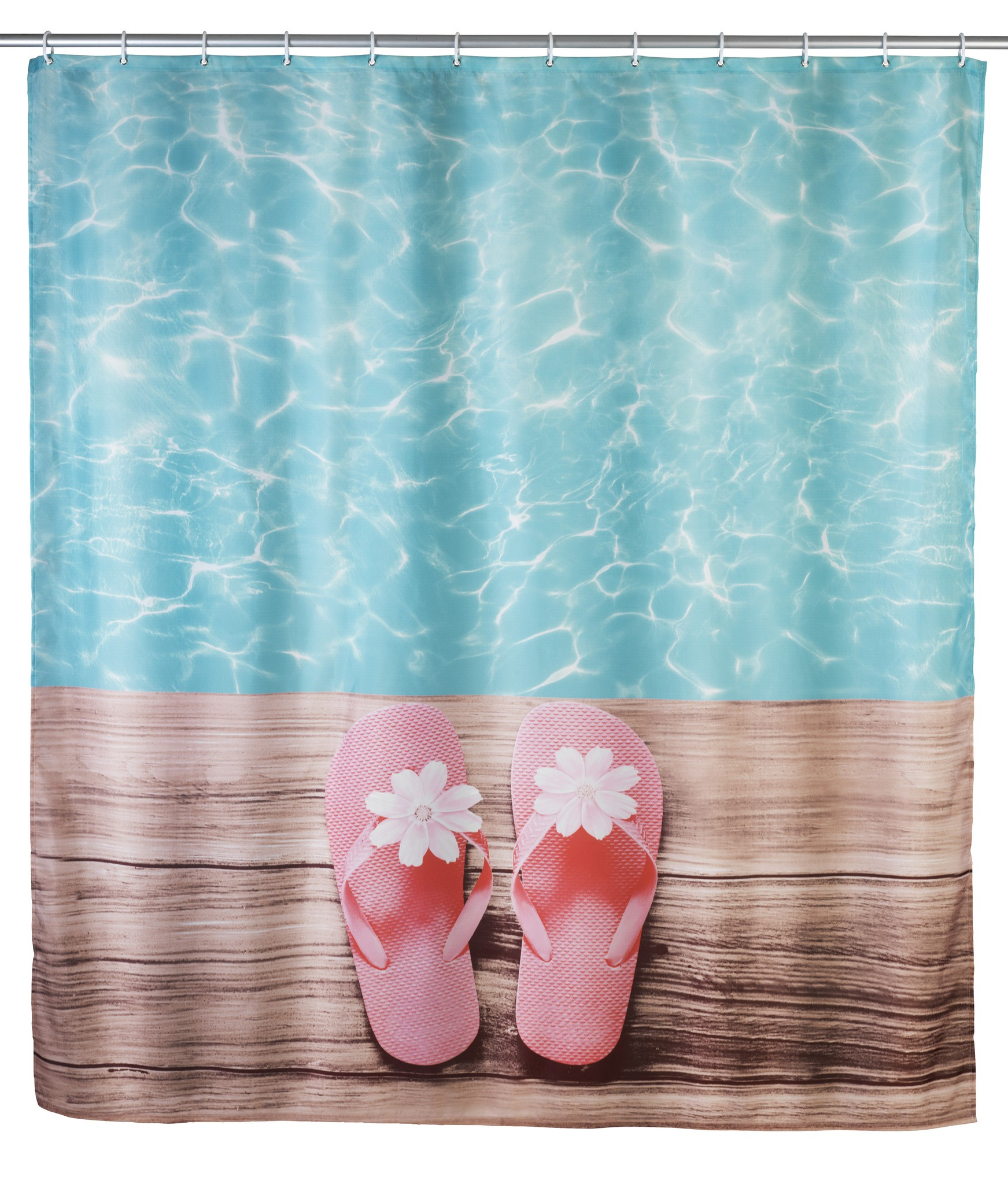 Wenko Duschvorhang Hawaii, 180 x 200 cm, waschbar