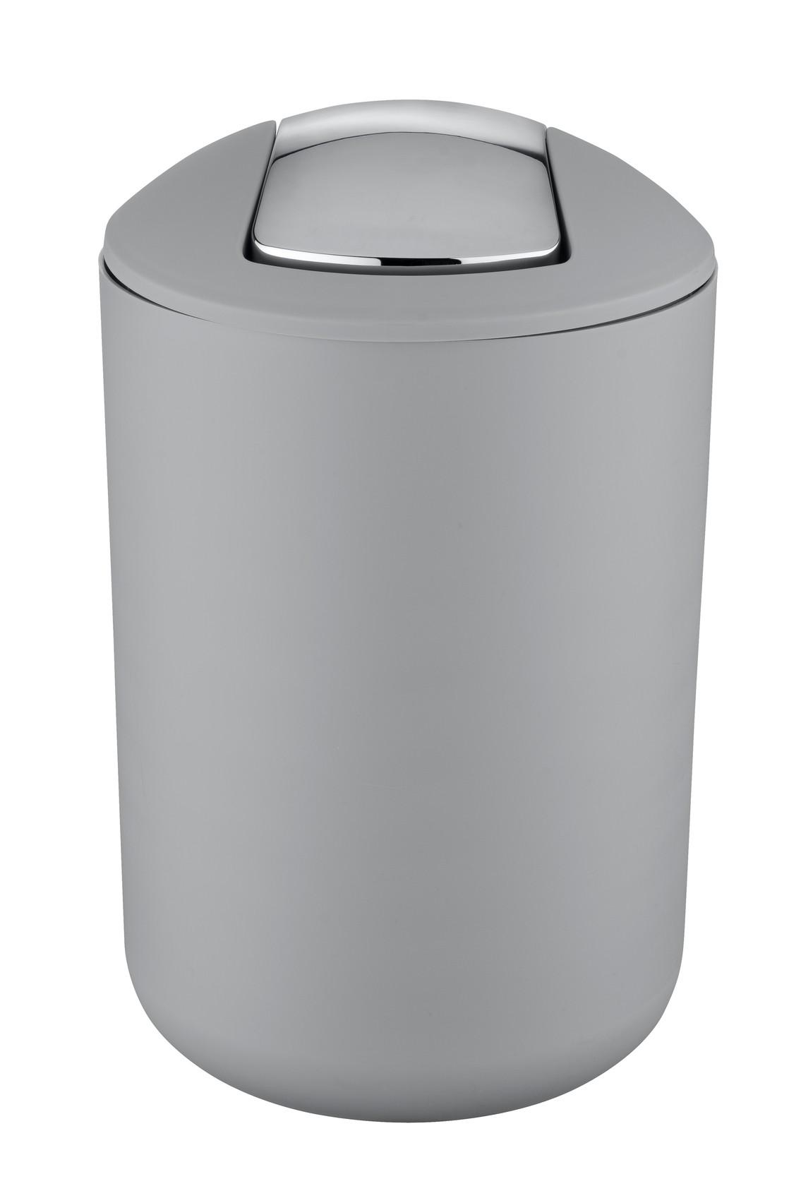 Wenko Schwingdeckeleimer / Kosmetikeimer Brasil L Grau 6,5 Liter
