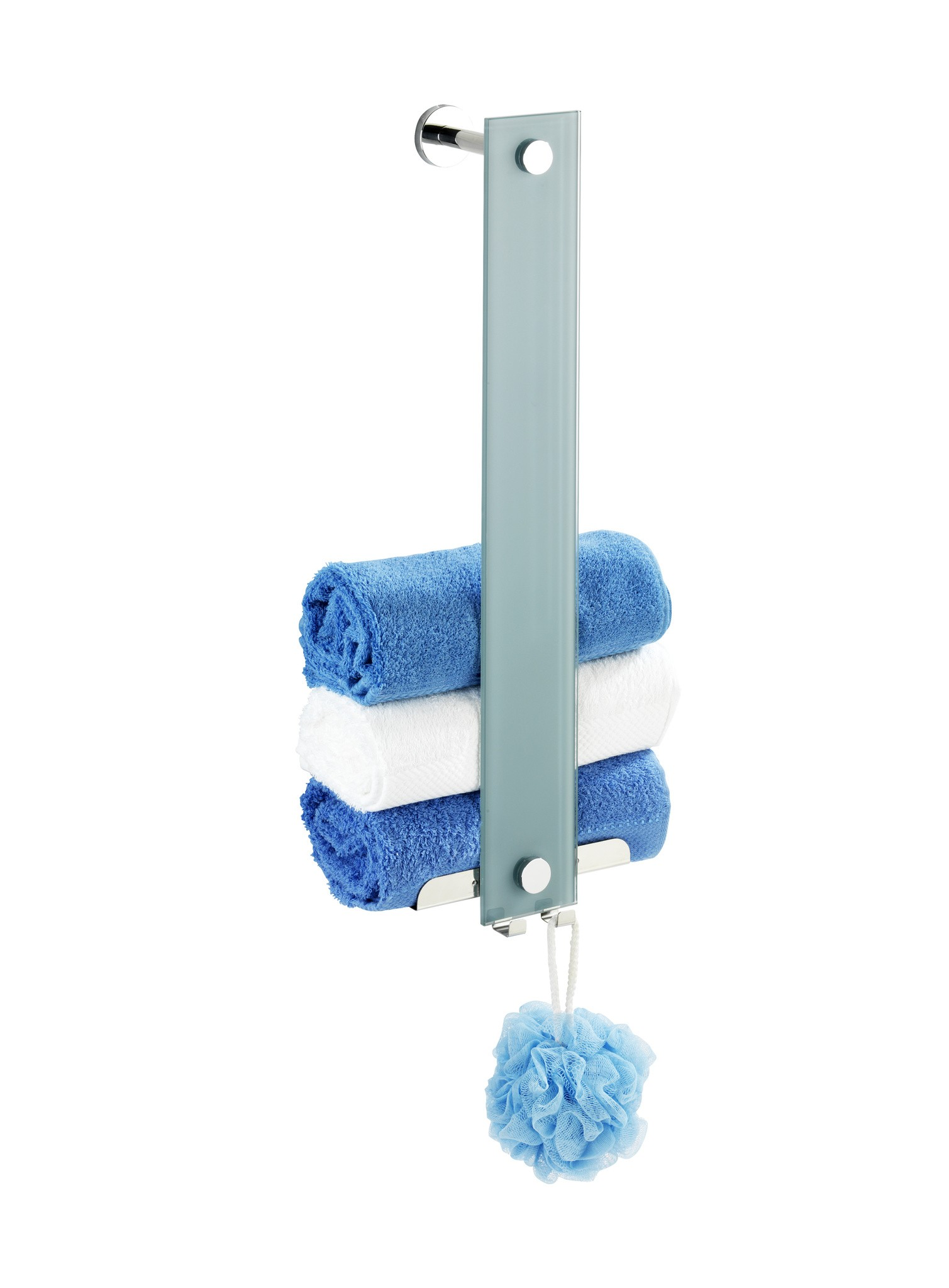 Wenko Power-Loc Handtuchhalter Era, Glas, Befestigen ohne bohren