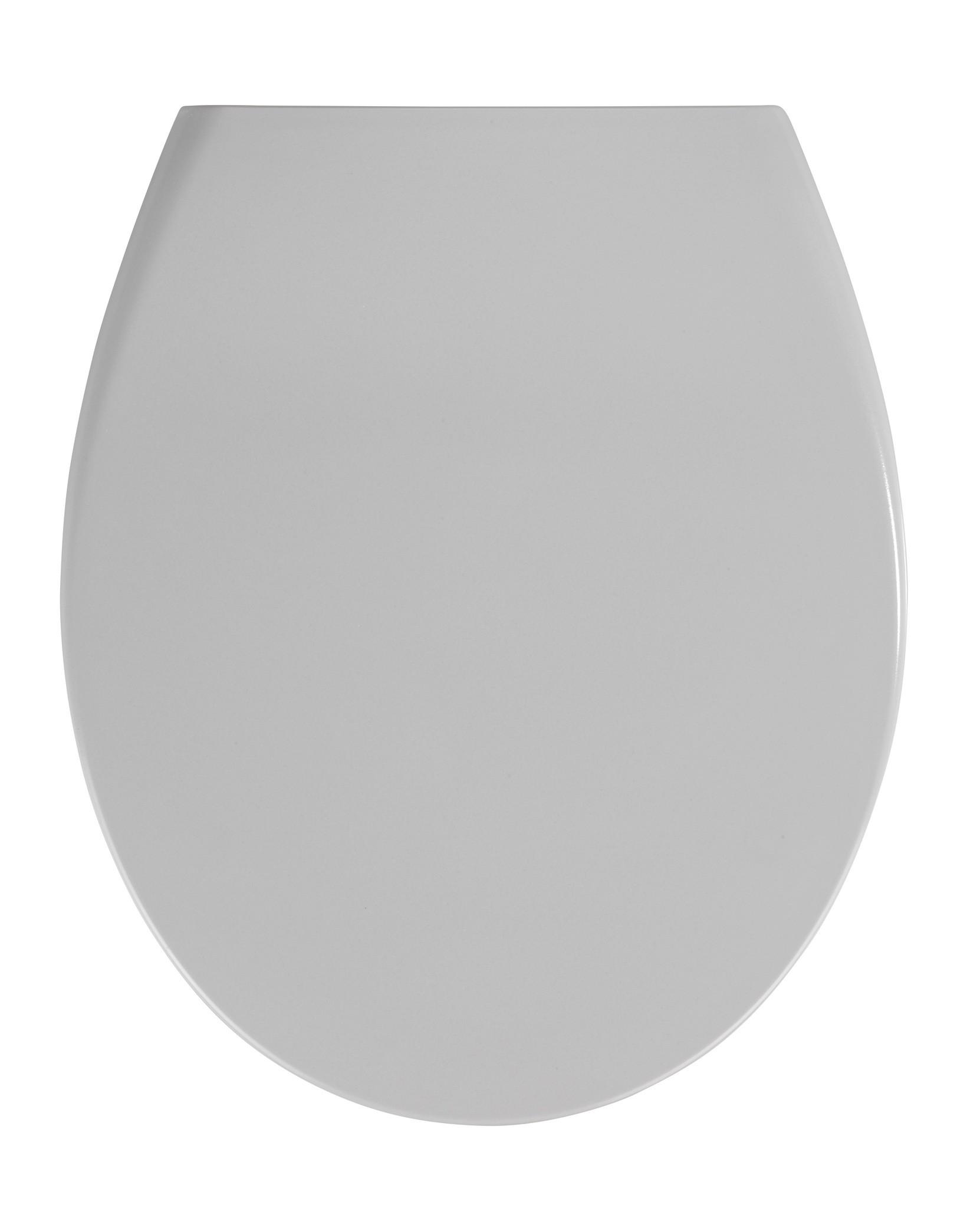 Premium WC-Sitz Samos Concrete Grey, Duroplast, mit Absenkautomatik