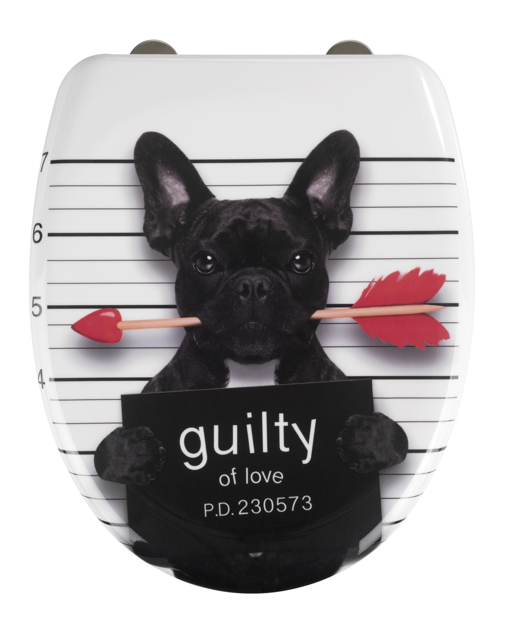 Wenko Premium WC-Sitz Guilty Dog, Duroplast, mit Absenkautomatik