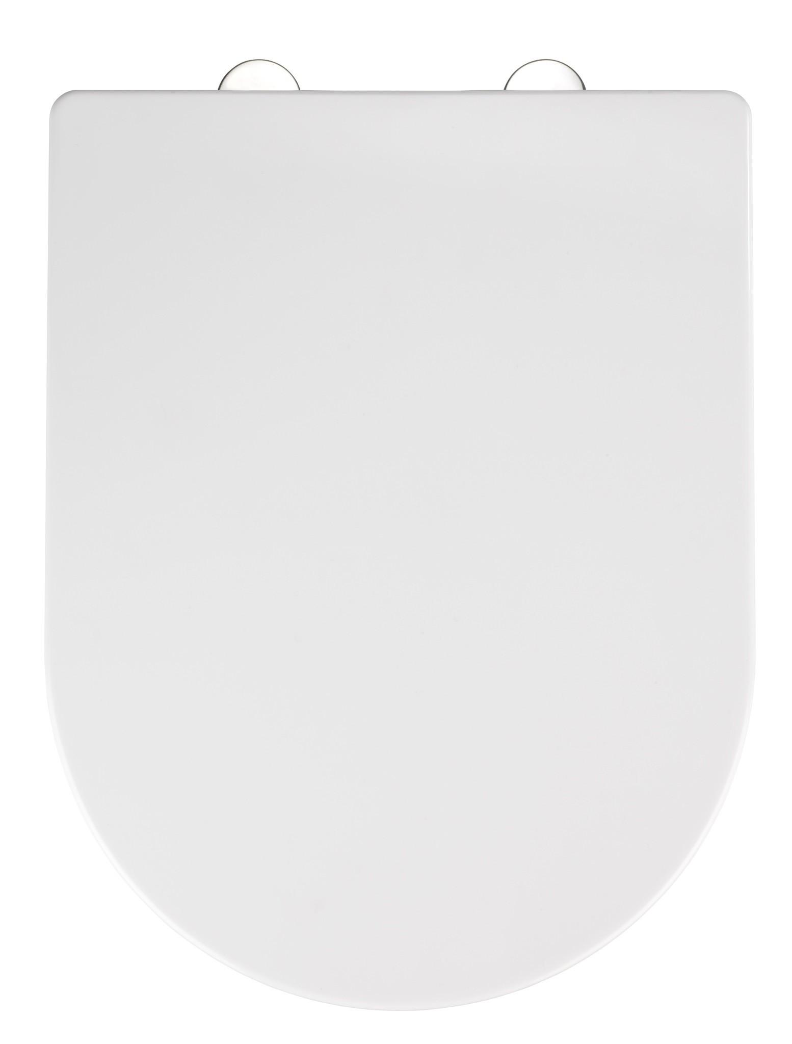 Wenko Premium WC-Sitz Calla, Thermoplast weiß, mit Absenkautomatik