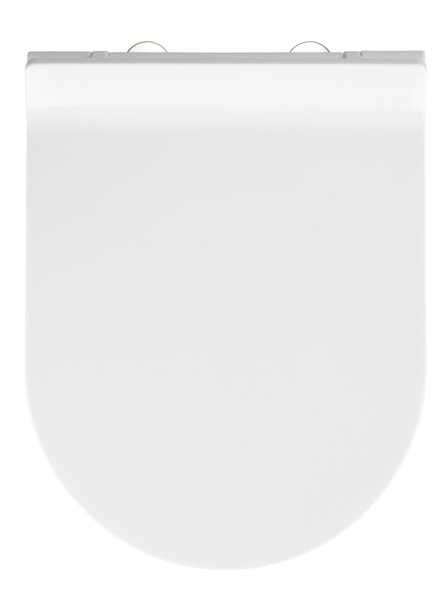 Wenko Premium WC-Sitz Habos, Thermoplast weiß, mit Absenkautomatik