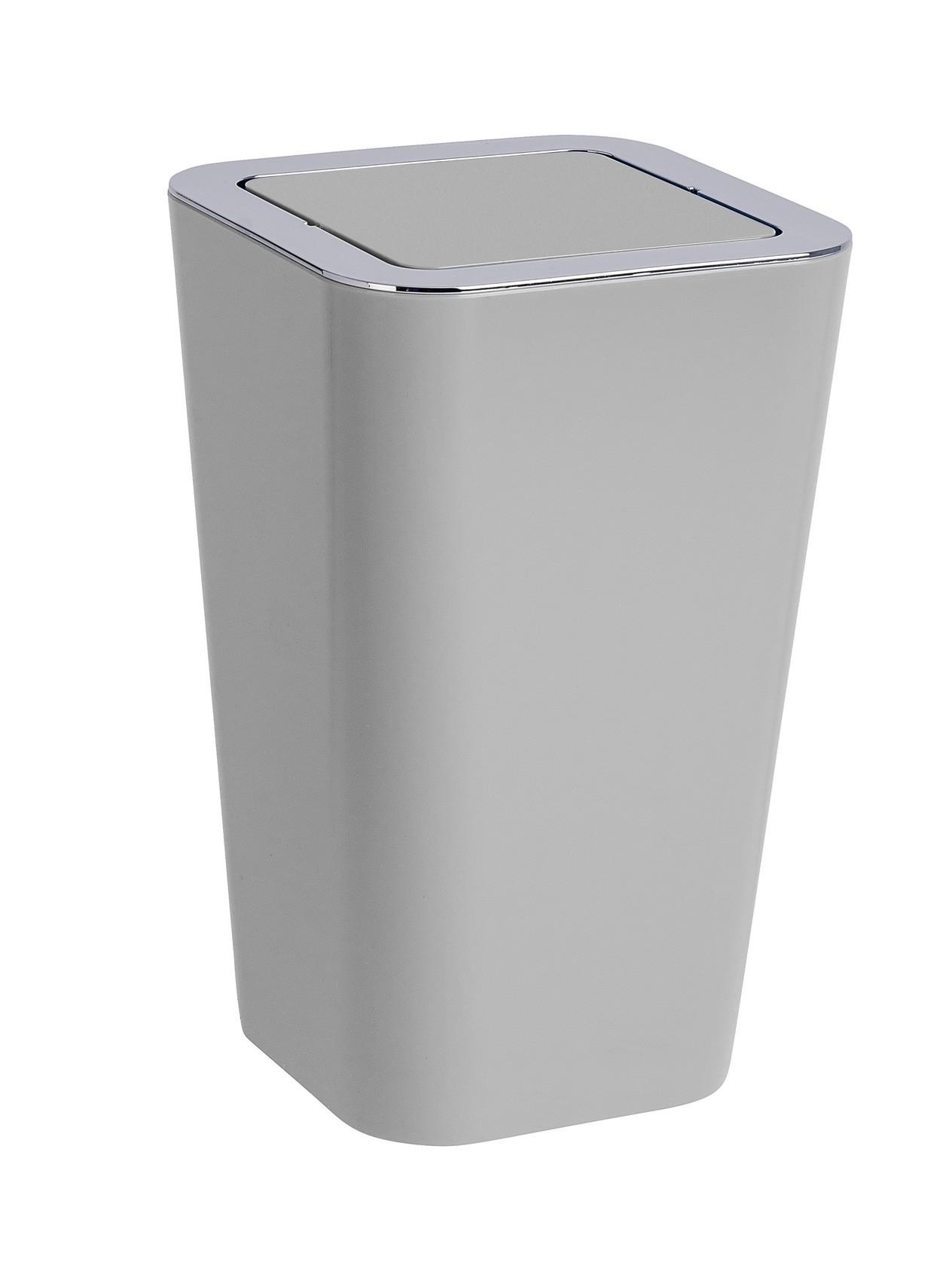 Wenko Schwingdeckeleimer Candy Grey, 6 Liter
