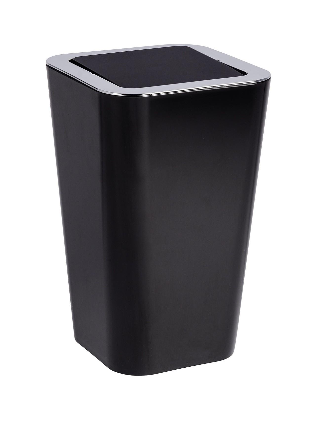 Wenko Schwingdeckeleimer Candy Black, 6 Liter