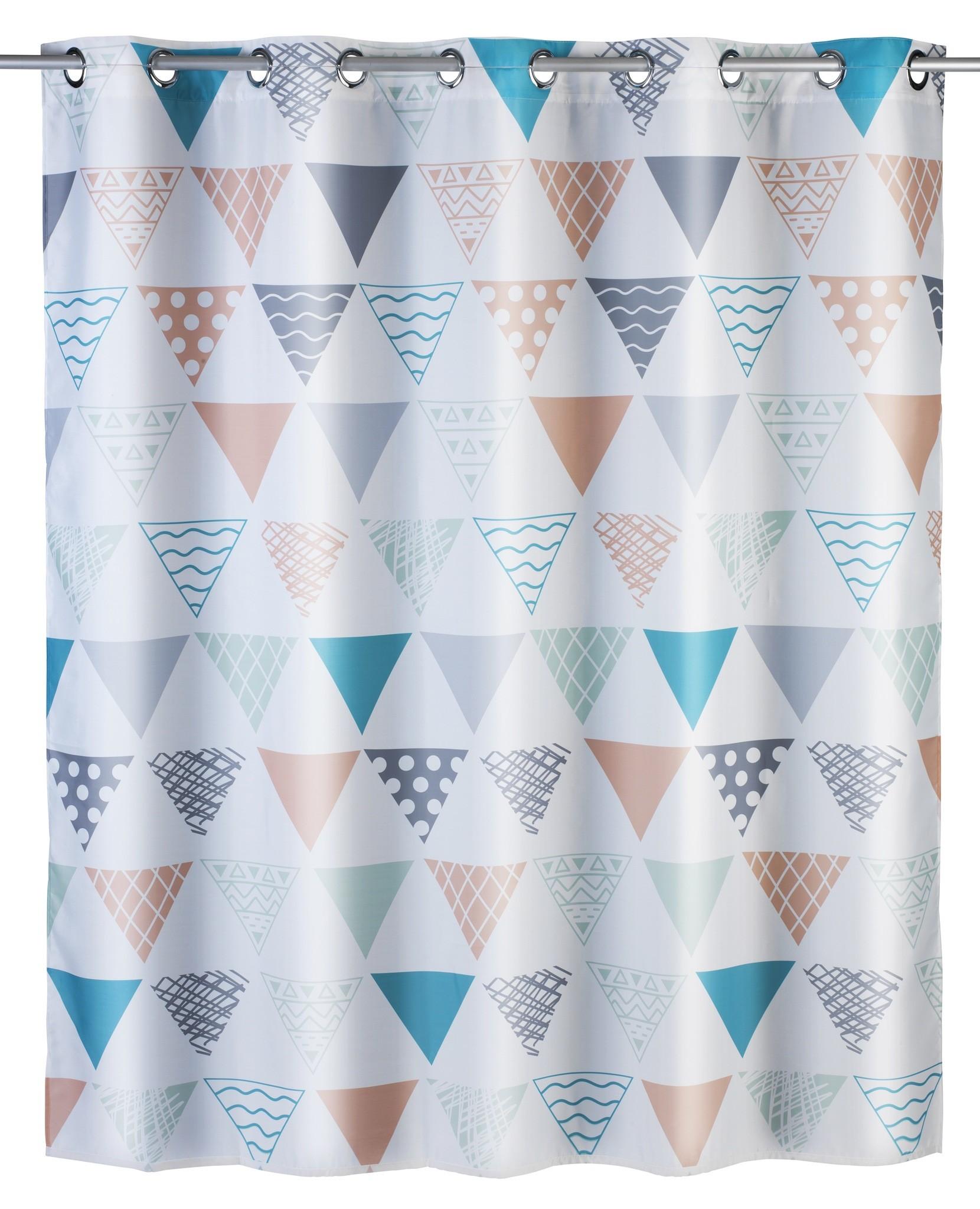 Anti-Schimmel Duschvorhang Ethno Flex, Polyester, 180 x 200 cm, waschbar