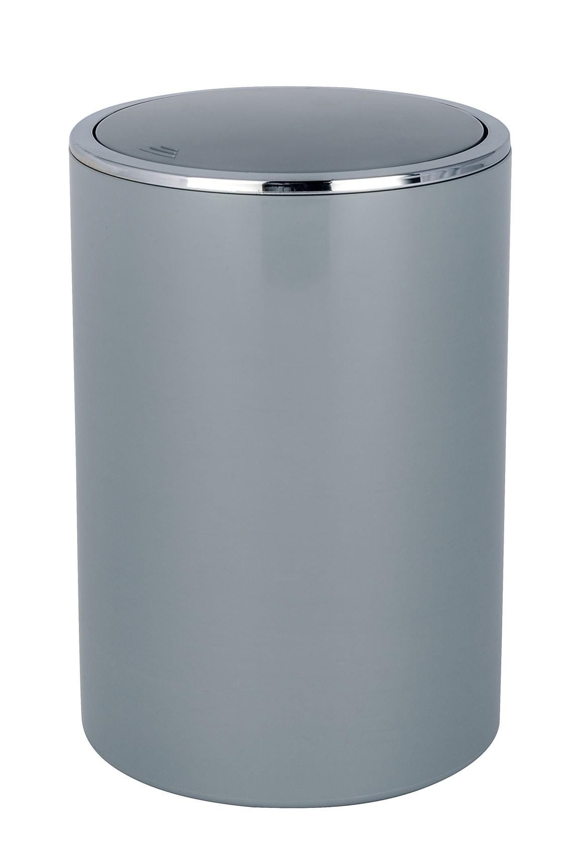Wenko Schwingdeckeleimer Inca Grey, hochwertiger Kunststoff, 5 Liter