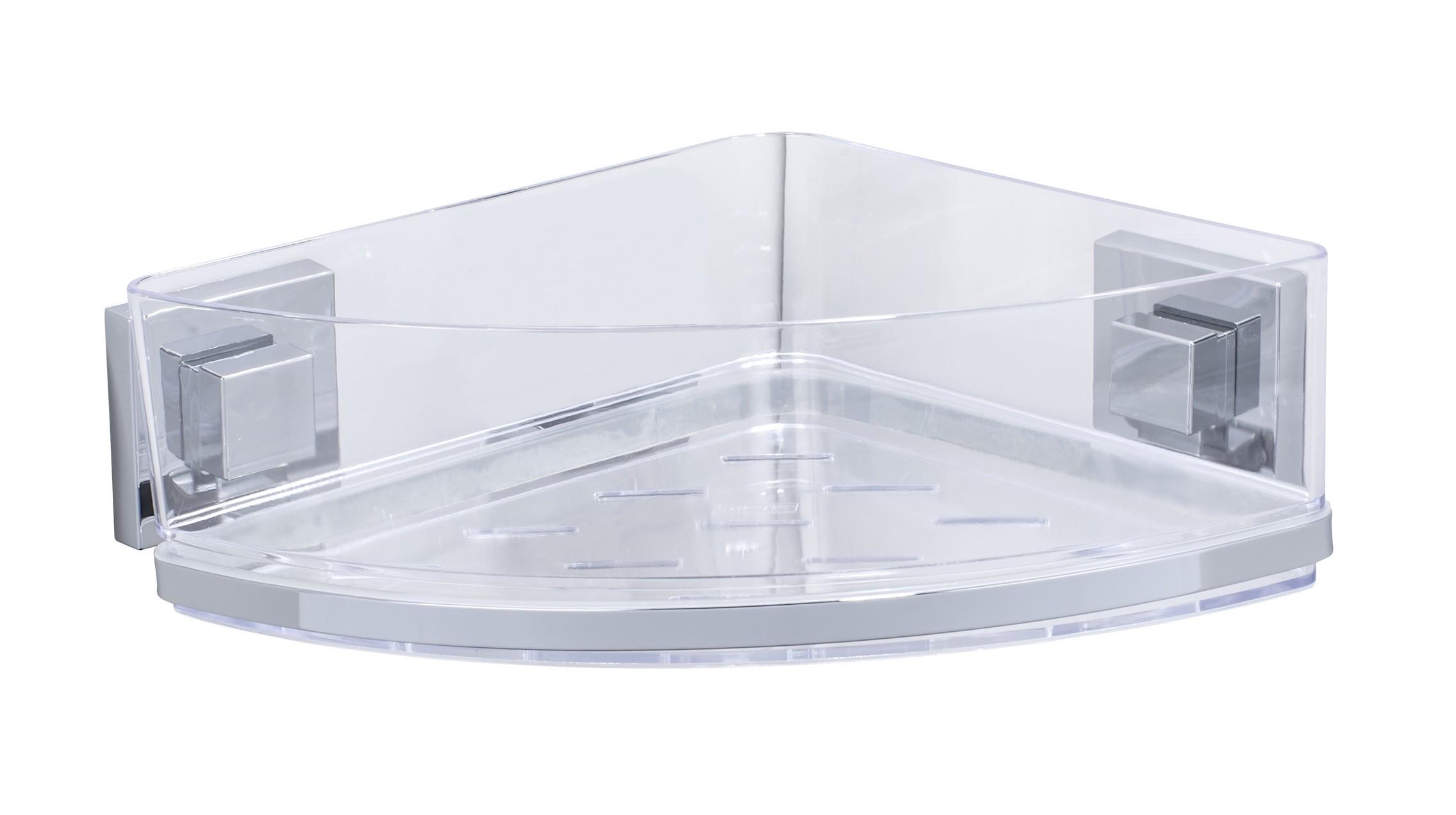Wenko Vacuum-Loc® Eckablage Quadro, Edelstahl, Befestigen ohne bohren