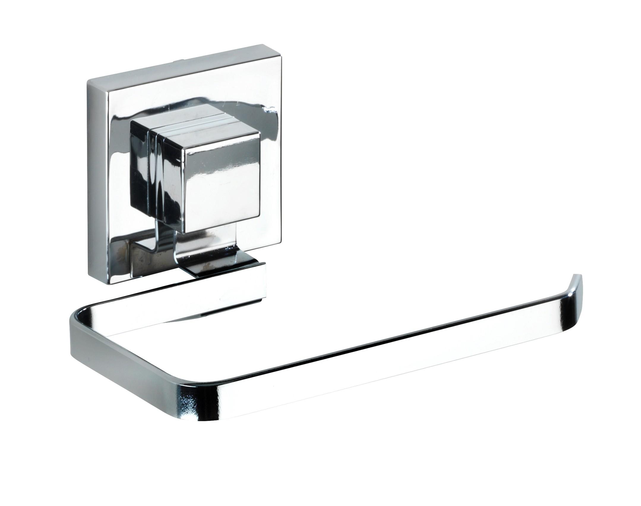 Wenko Vacuum-Loc® Toilettenpapierhalter Quadro, Edelstahl, Befestigen ohne bohren