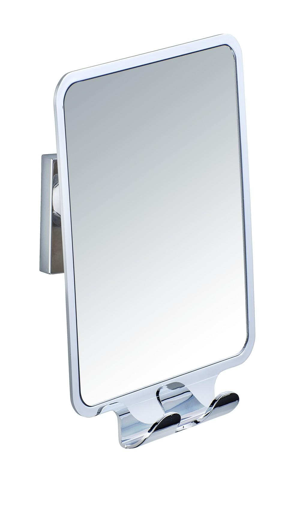 Wenko Vacuum-Loc® Antibeschlagspiegel Quadro, Befestigen ohne bohren