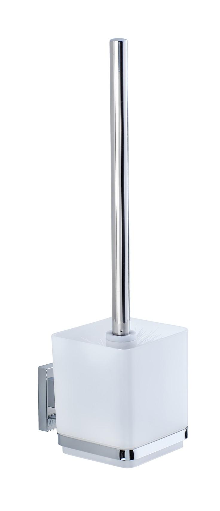 Wenko Vacuum-Loc® WC-Garnitur Quadro, Edelstahl, Befestigen ohne bohren