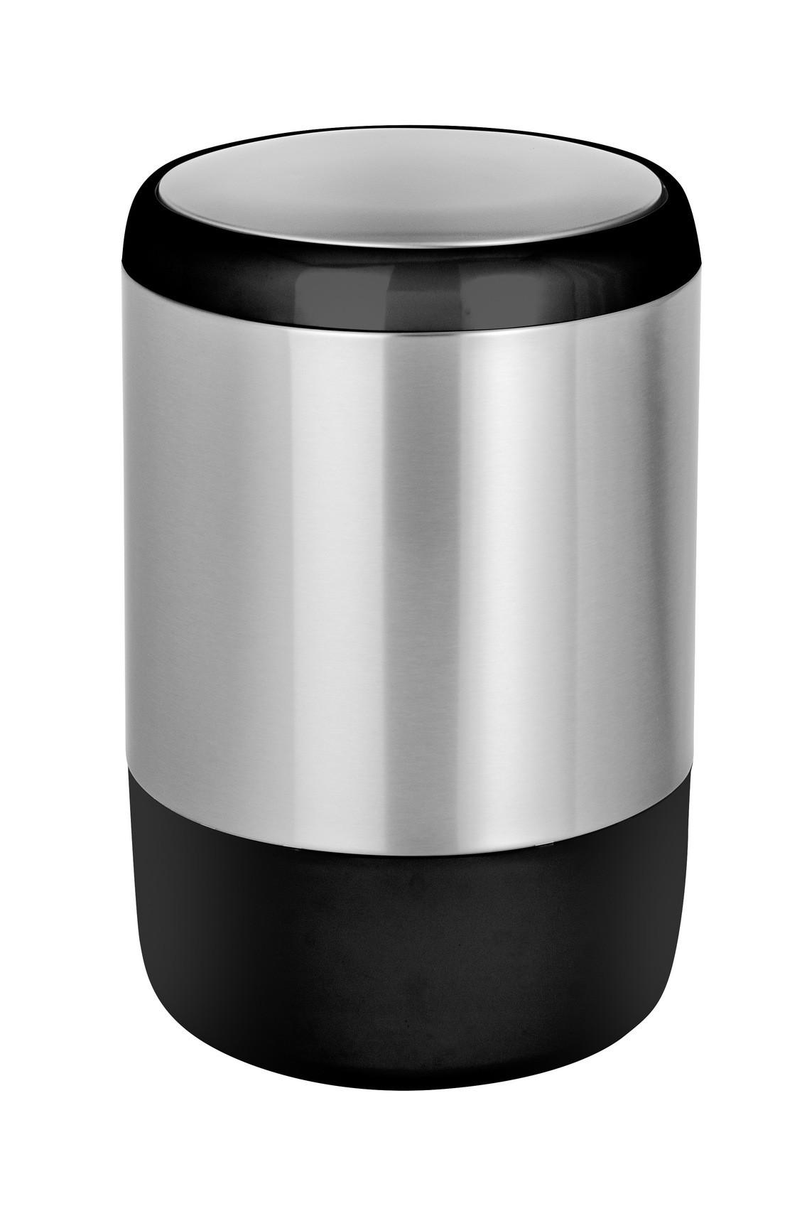 Wenko Schwingdeckeleimer Loft, Edelstahl rostfrei, 20 Liter